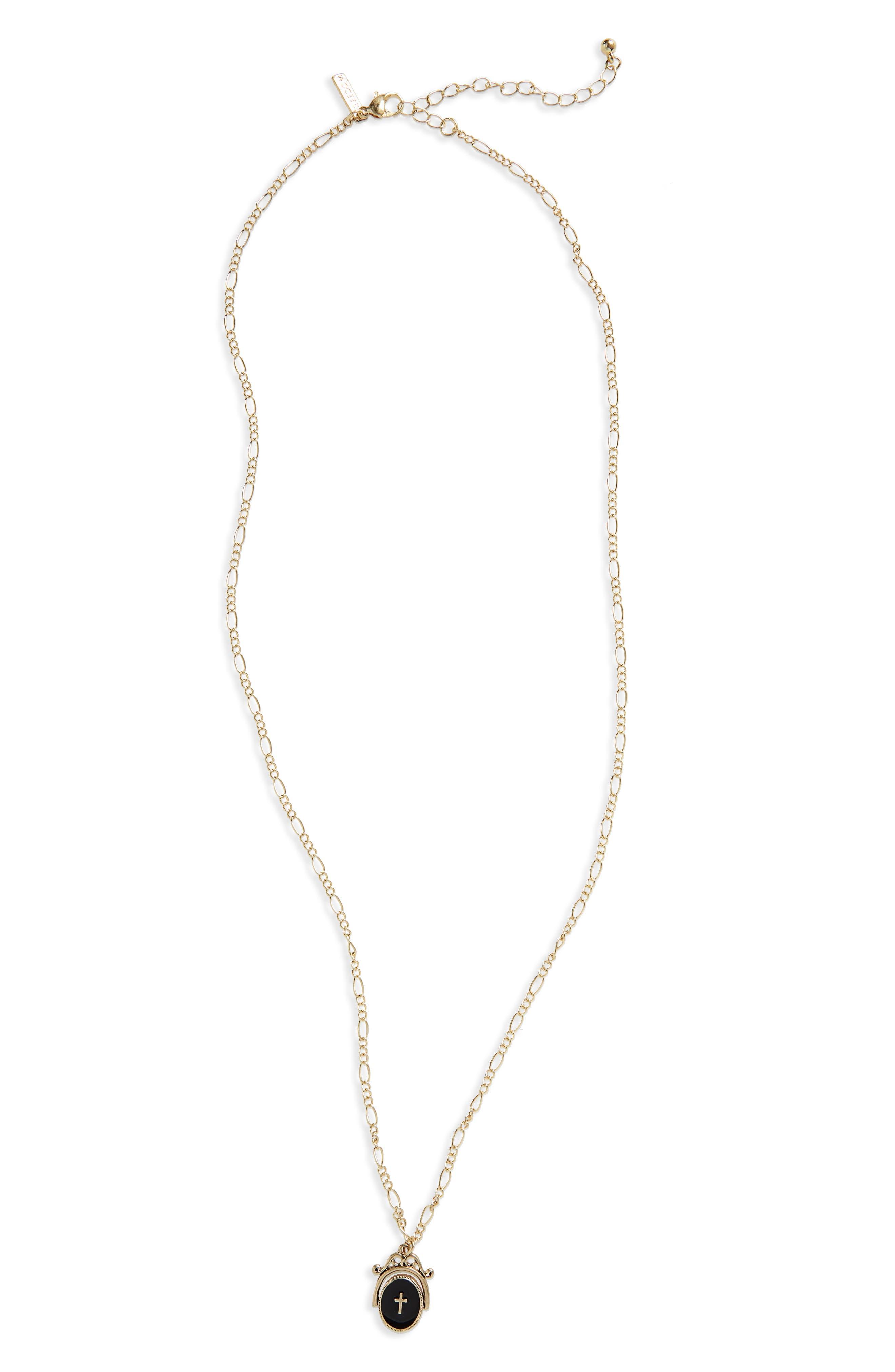 Cross Coin Necklace,                             Main thumbnail 1, color,                             710