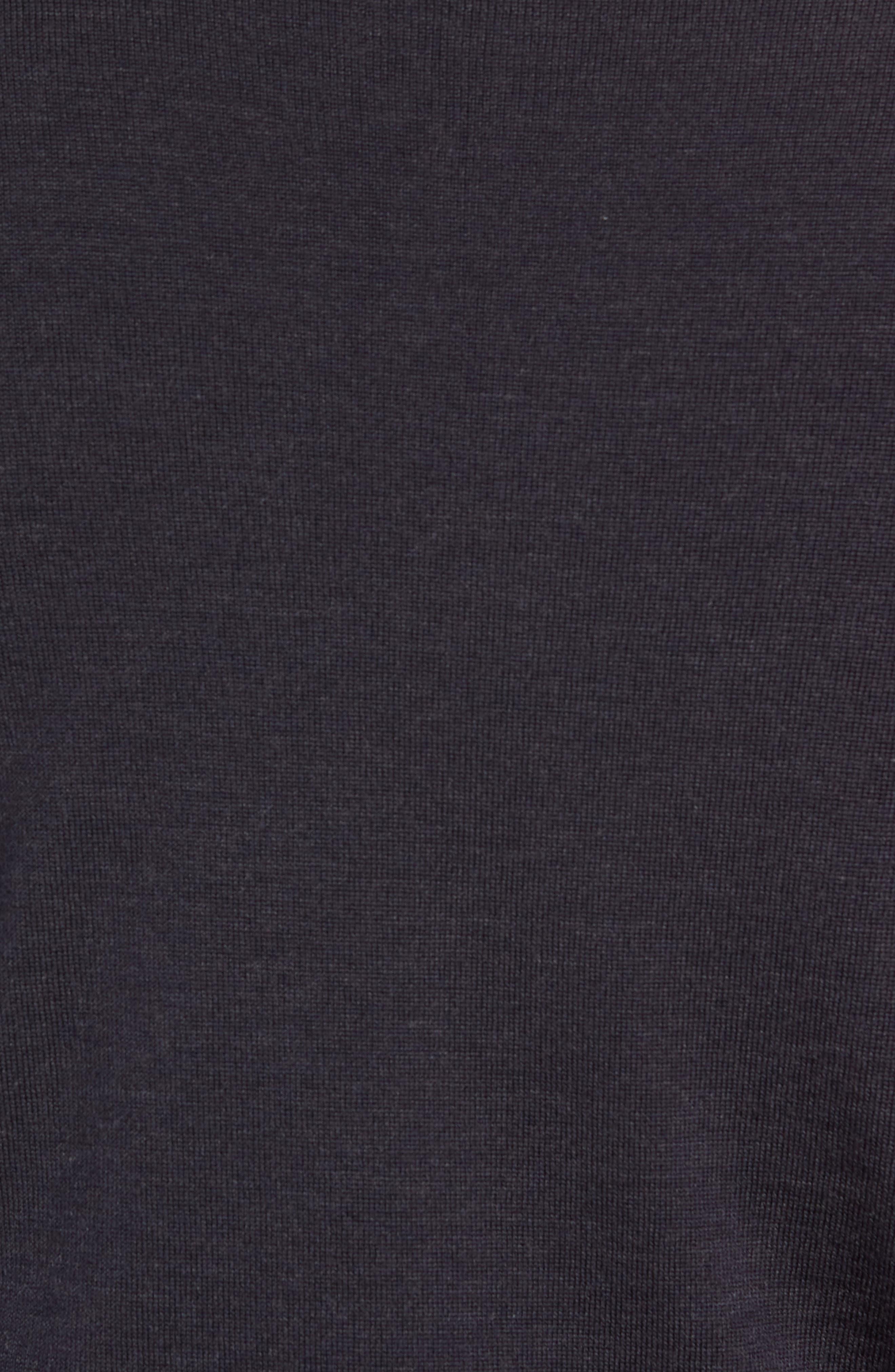 Claygate Slim Fit Merino Wool Zip Jacket,                             Alternate thumbnail 5, color,                             HEPBURN SMOKE