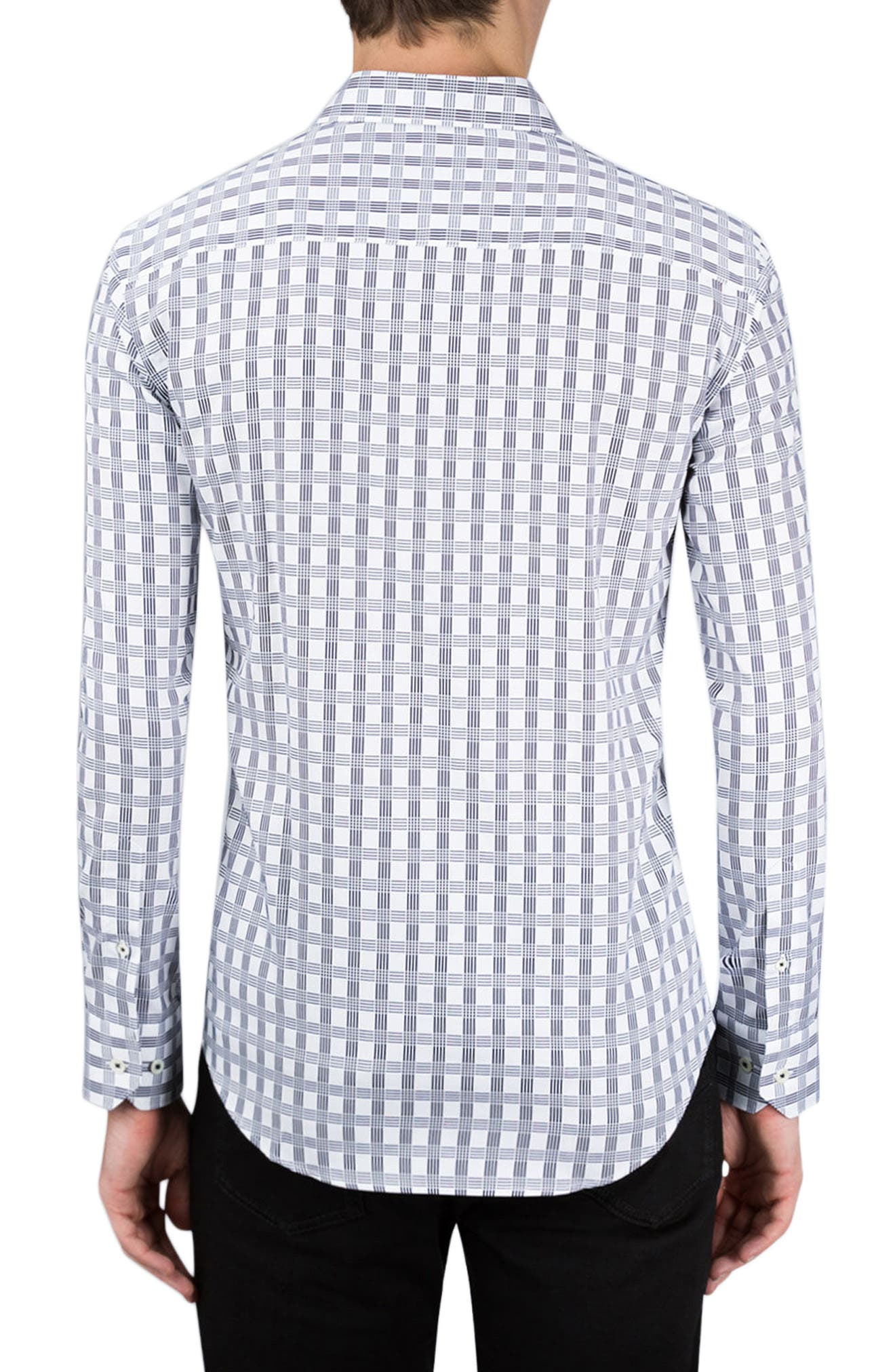 Classic Fit Check Sport Shirt,                             Alternate thumbnail 2, color,                             100