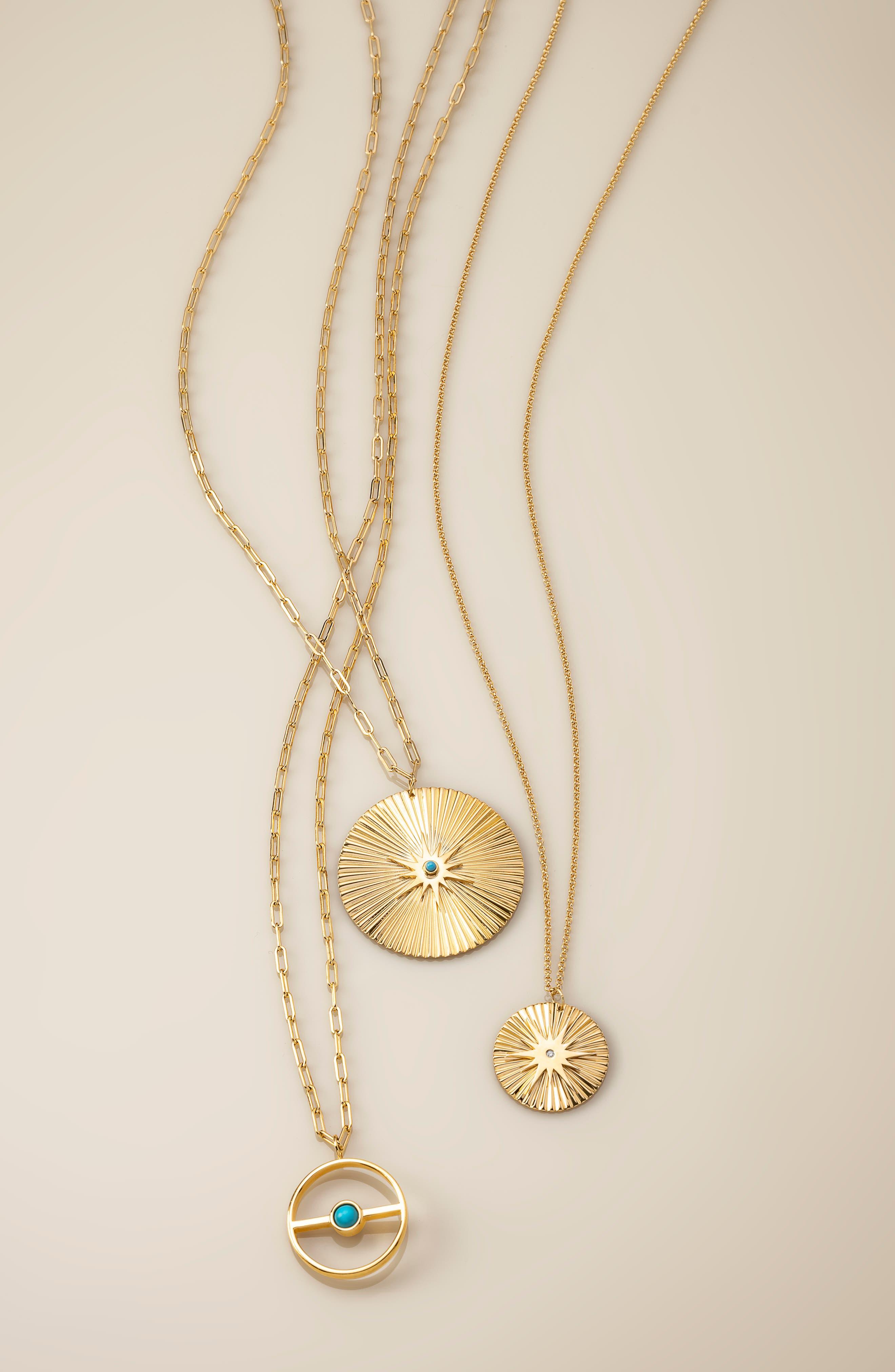 Iris Durango Turquoise Pendant Necklace,                             Alternate thumbnail 3, color,                             710