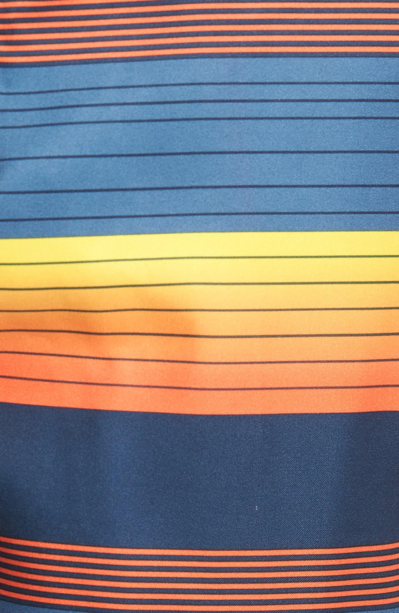 Santa Cruz Stripe Board Shorts,                             Alternate thumbnail 5, color,                             415