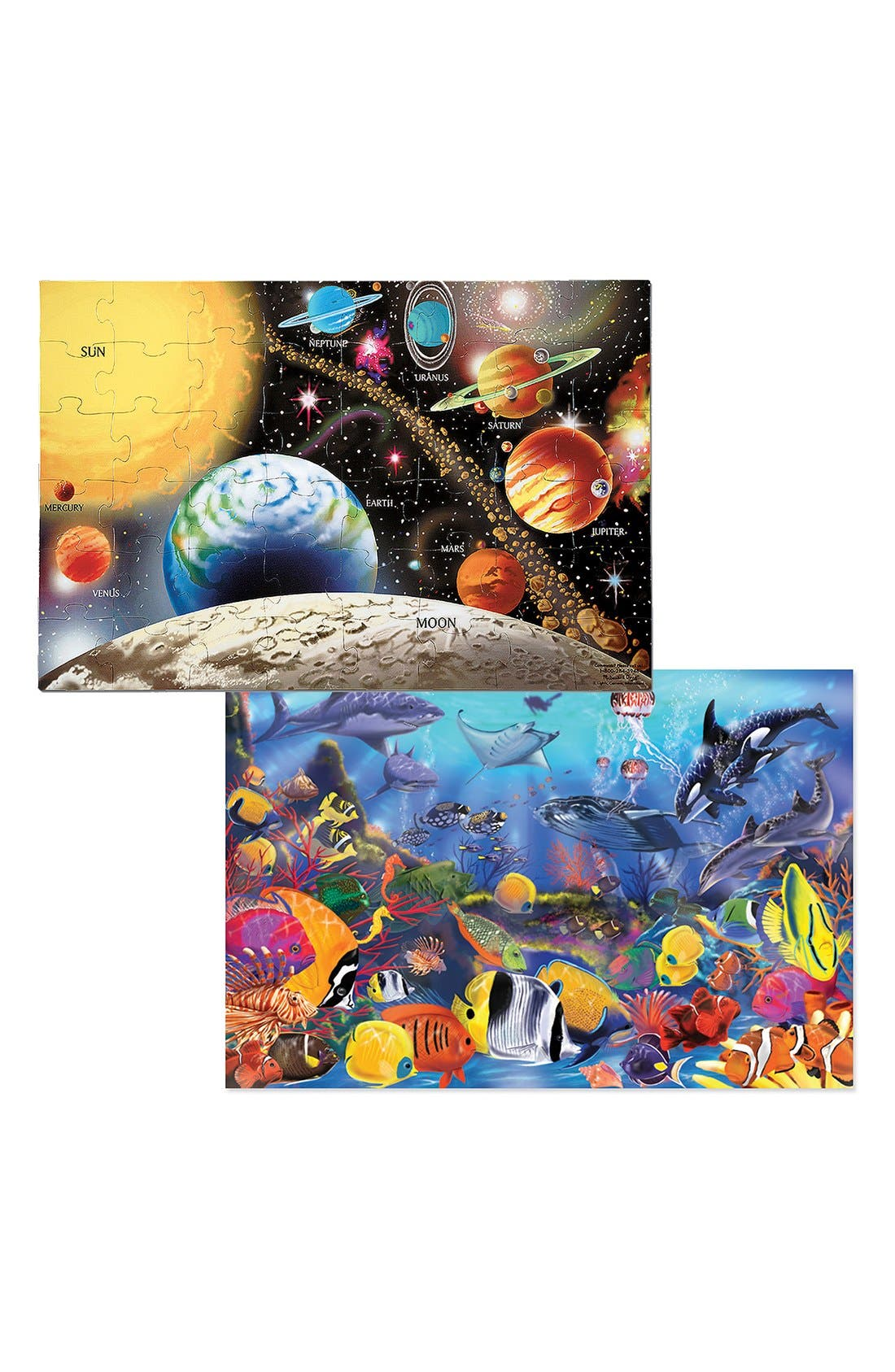 Solar System & Underwater Floor Puzzles,                             Alternate thumbnail 2, color,                             MULTI