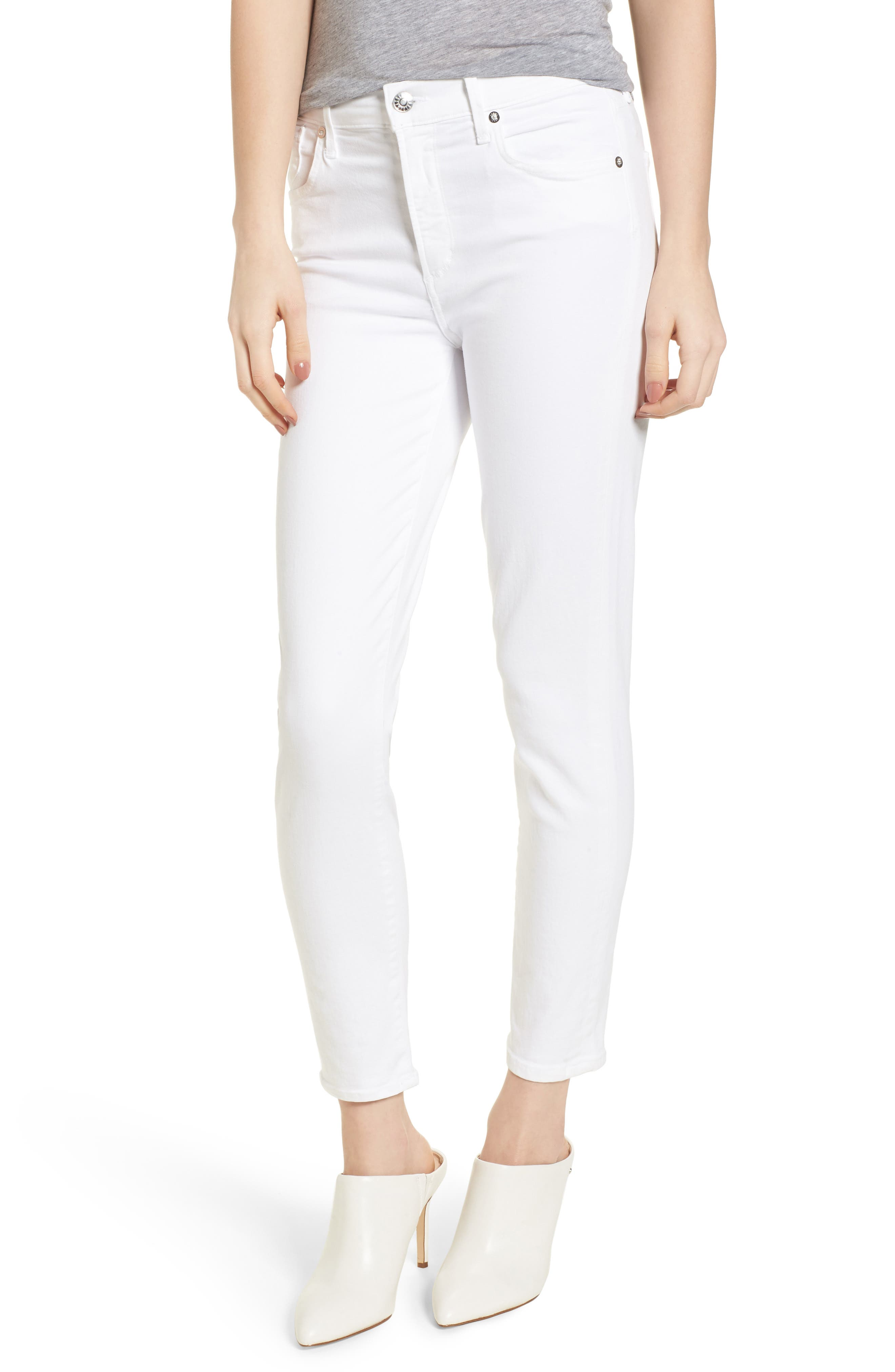Sophie High Waist Ankle Skinny Jeans,                         Main,                         color, VIXEN