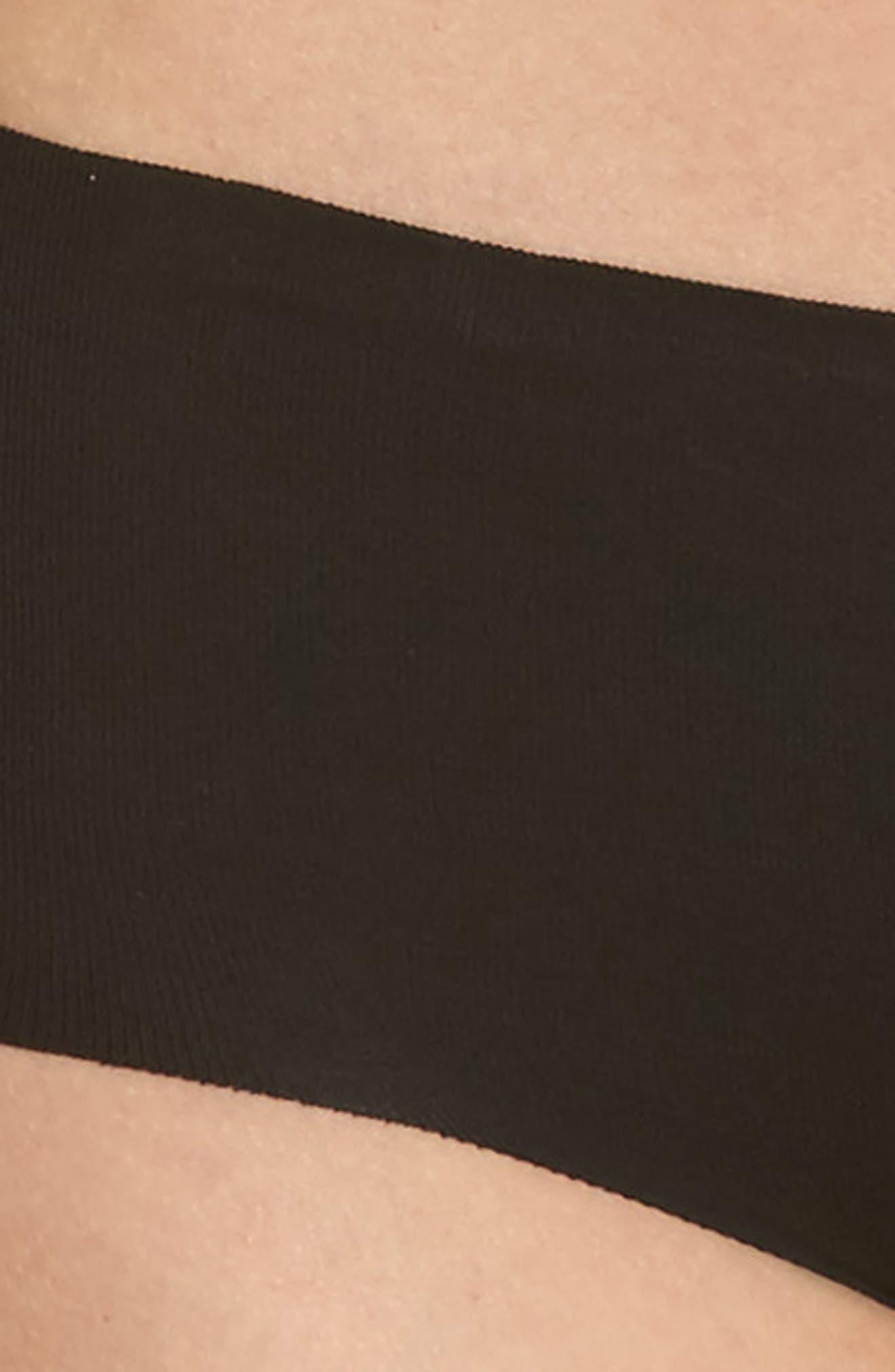 Beyond Naked Hipster Panties,                             Alternate thumbnail 4, color,                             BLACK
