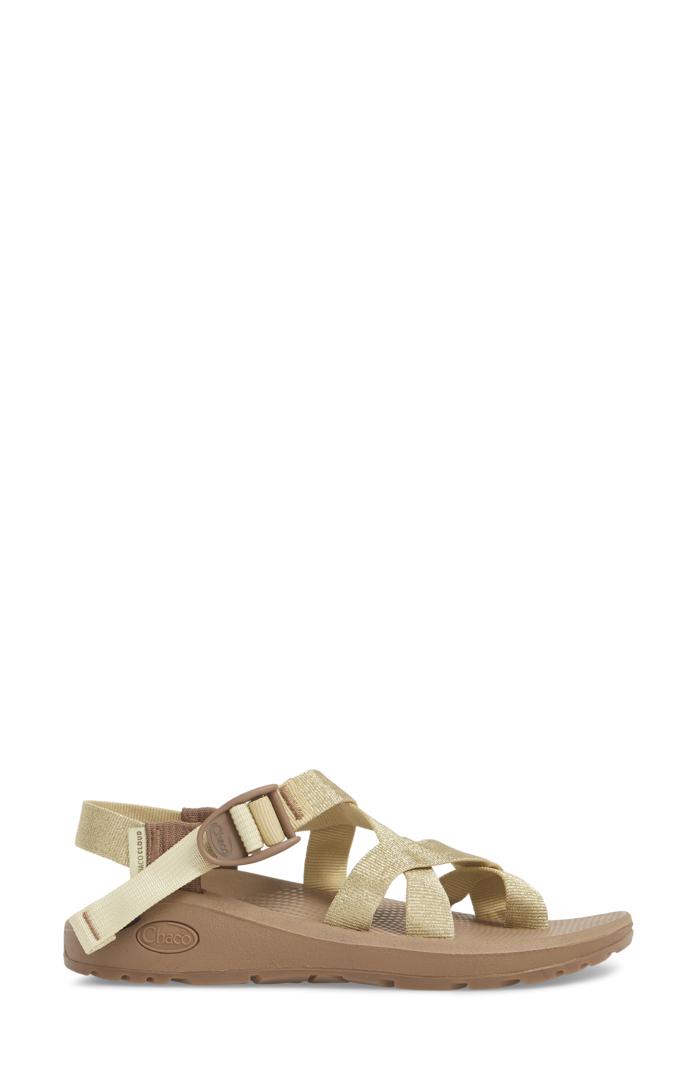 Z/Cloud 2 Sandal,                             Alternate thumbnail 3, color,                             METALLIC GOLD LEATHER