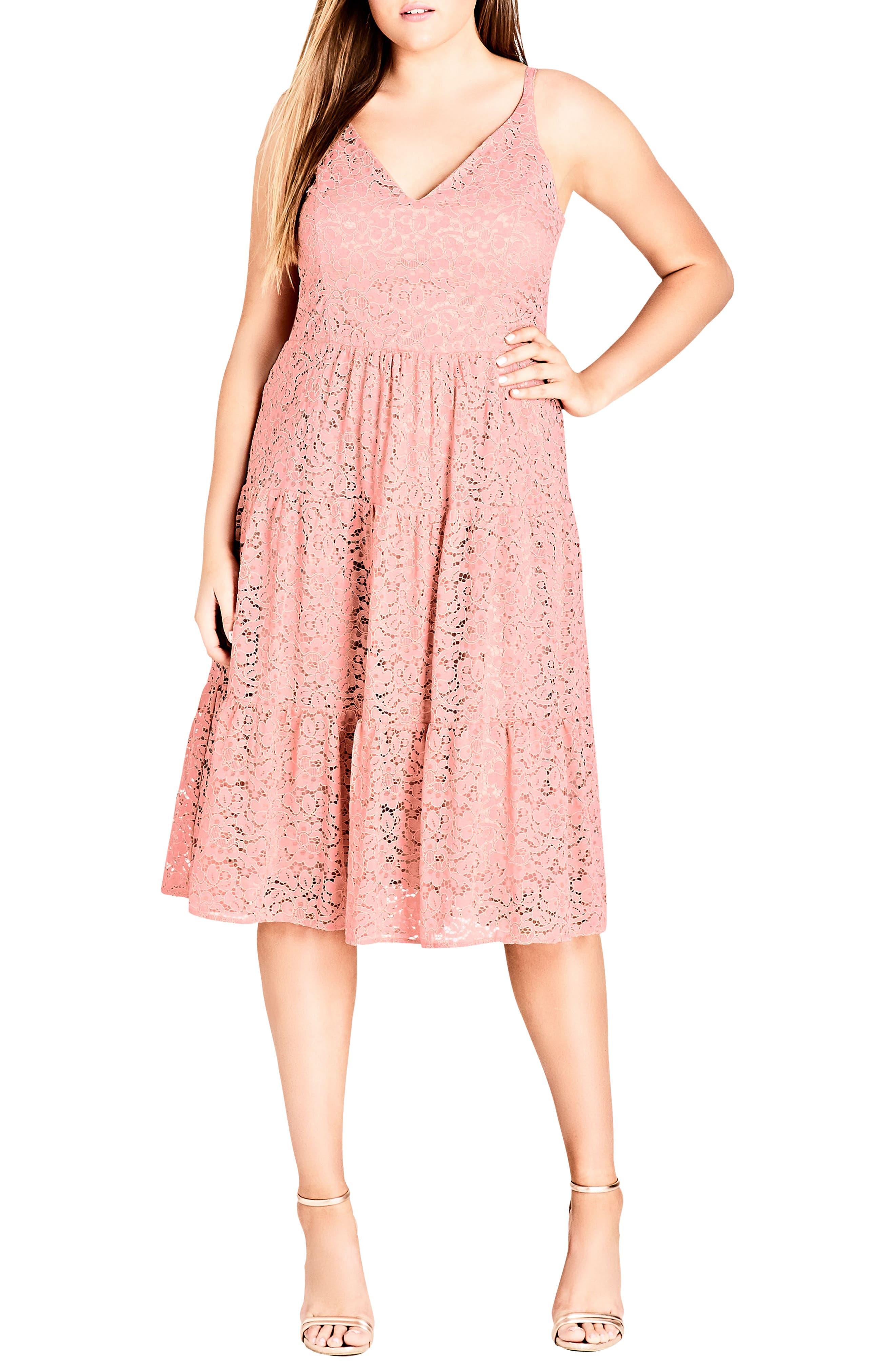 plus size women's city chic sweet kiss dress, size xx-large - red