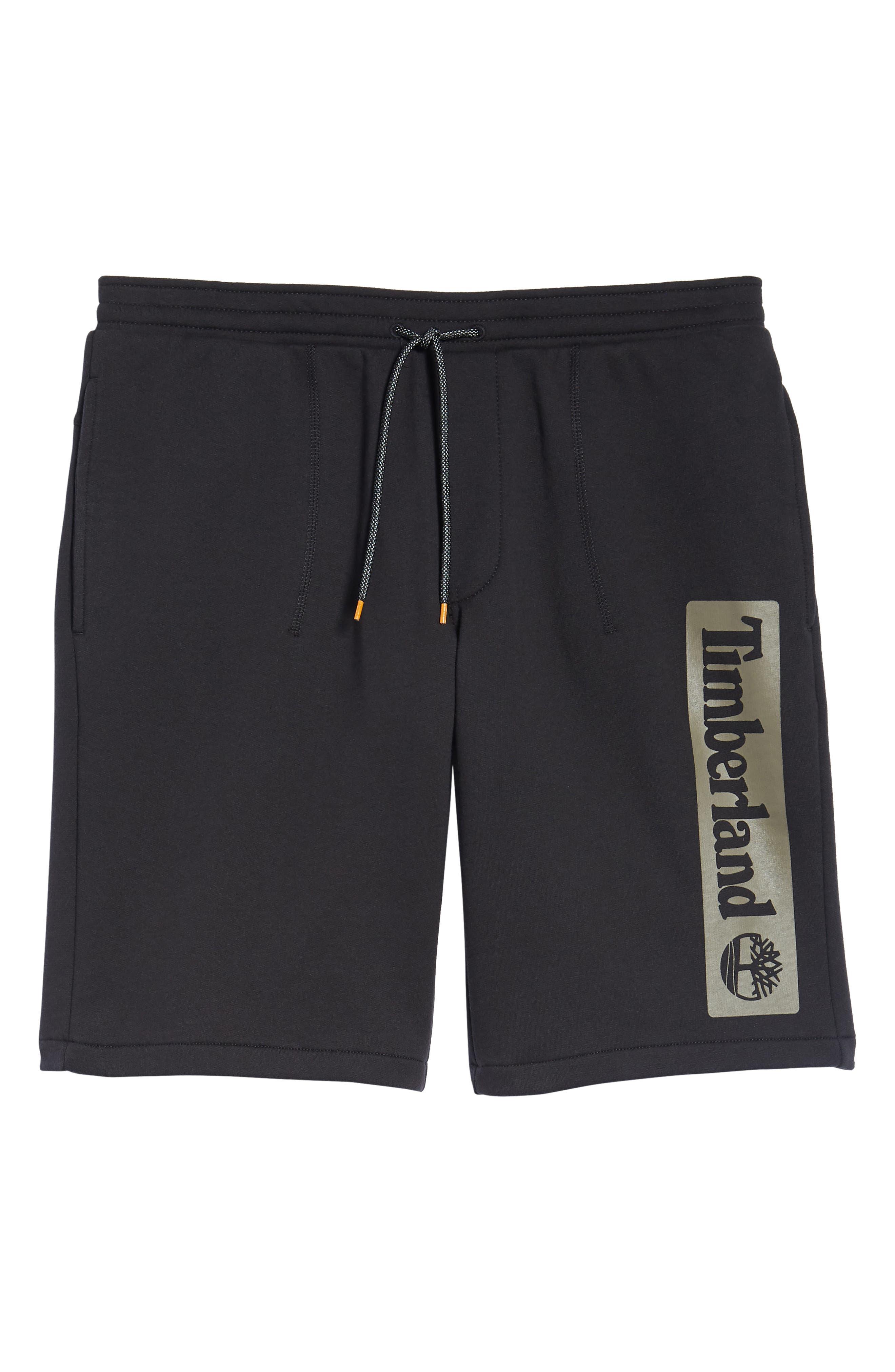 Logo Jogger Shorts,                             Alternate thumbnail 6, color,                             BLACK LINEAR