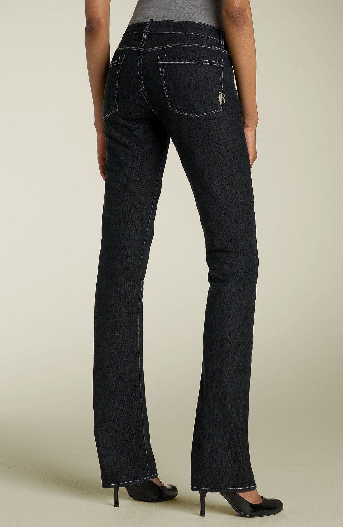 RICH & SKINNY,                             'Sleek' Straight Leg Stretch Jeans,                             Main thumbnail 1, color,                             001