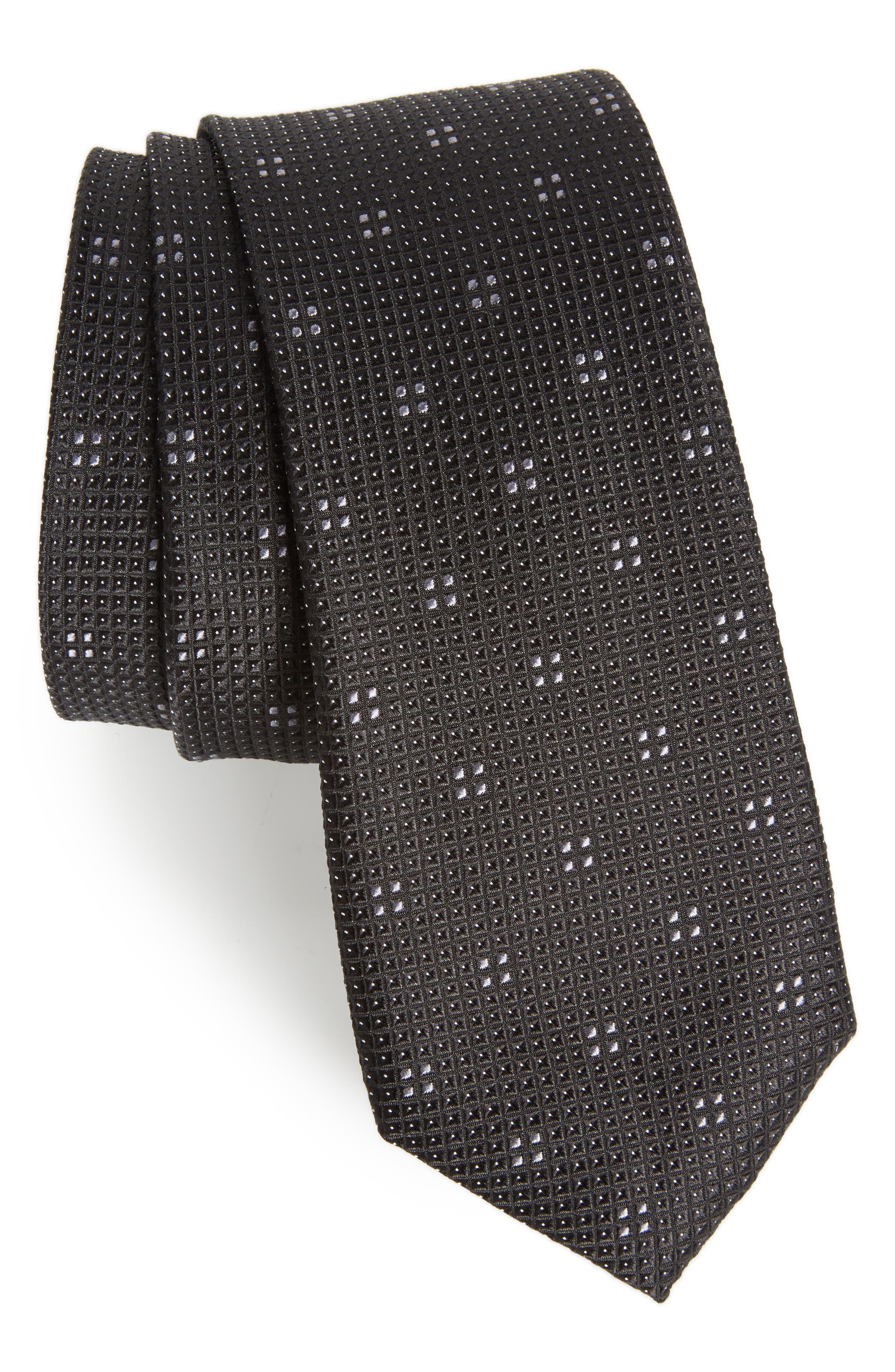 Classic Neat Silk Tie,                             Main thumbnail 1, color,                             001