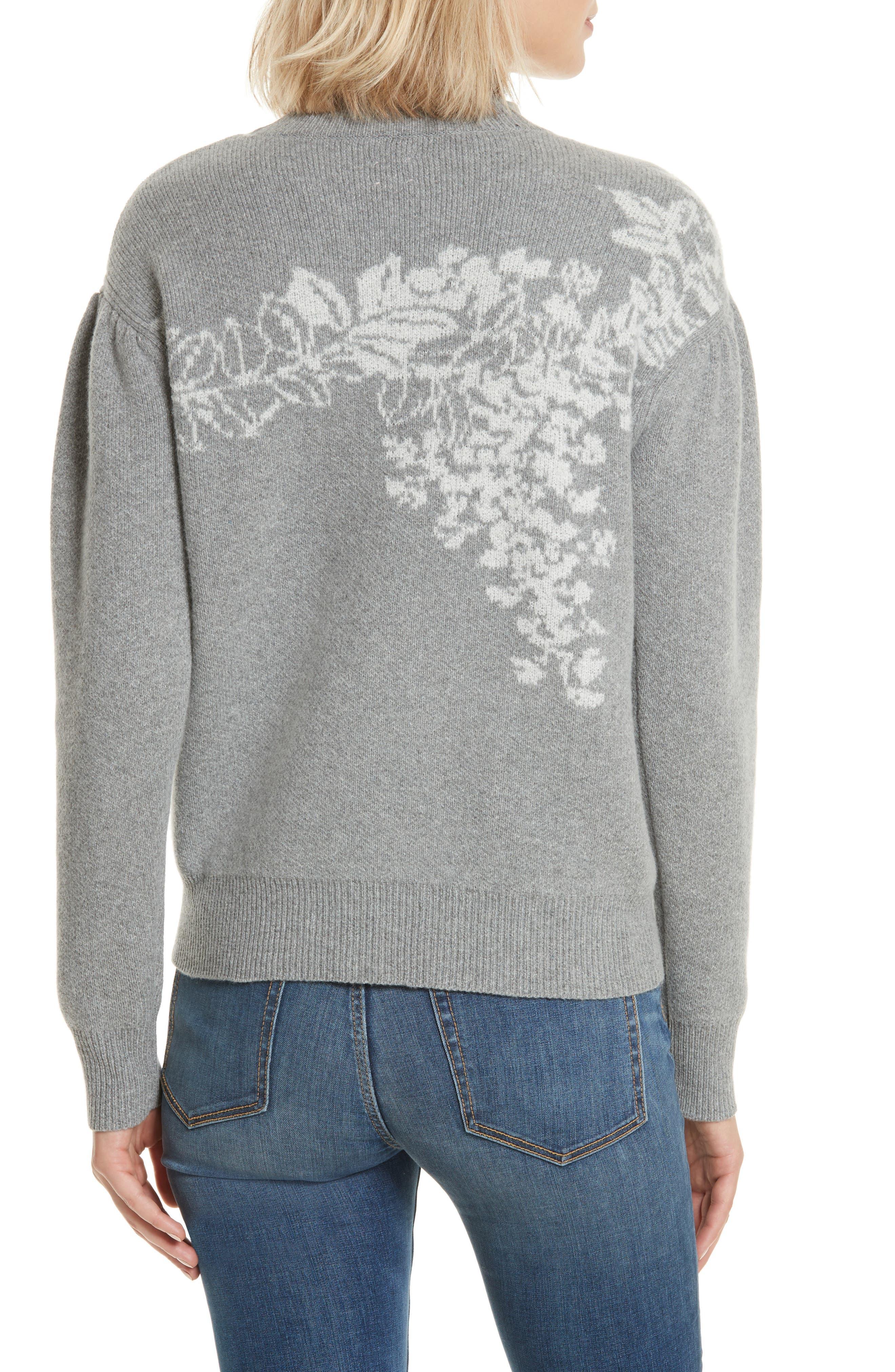 Jacquard Floral Pullover,                             Alternate thumbnail 2, color,                             038