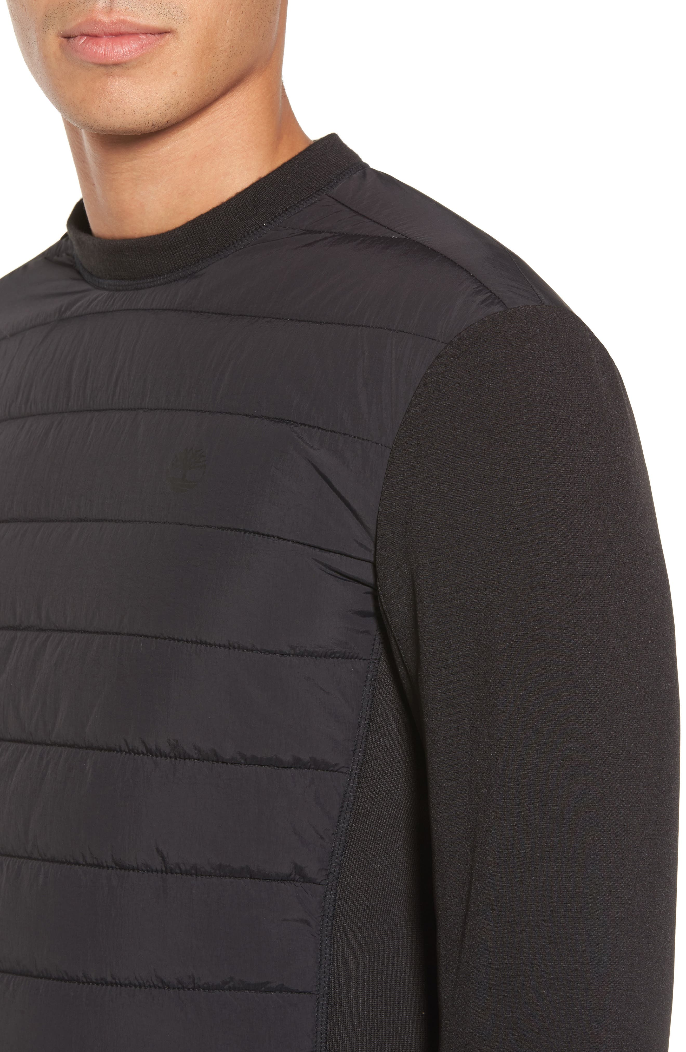 Quilted Pullover,                             Alternate thumbnail 4, color,                             001