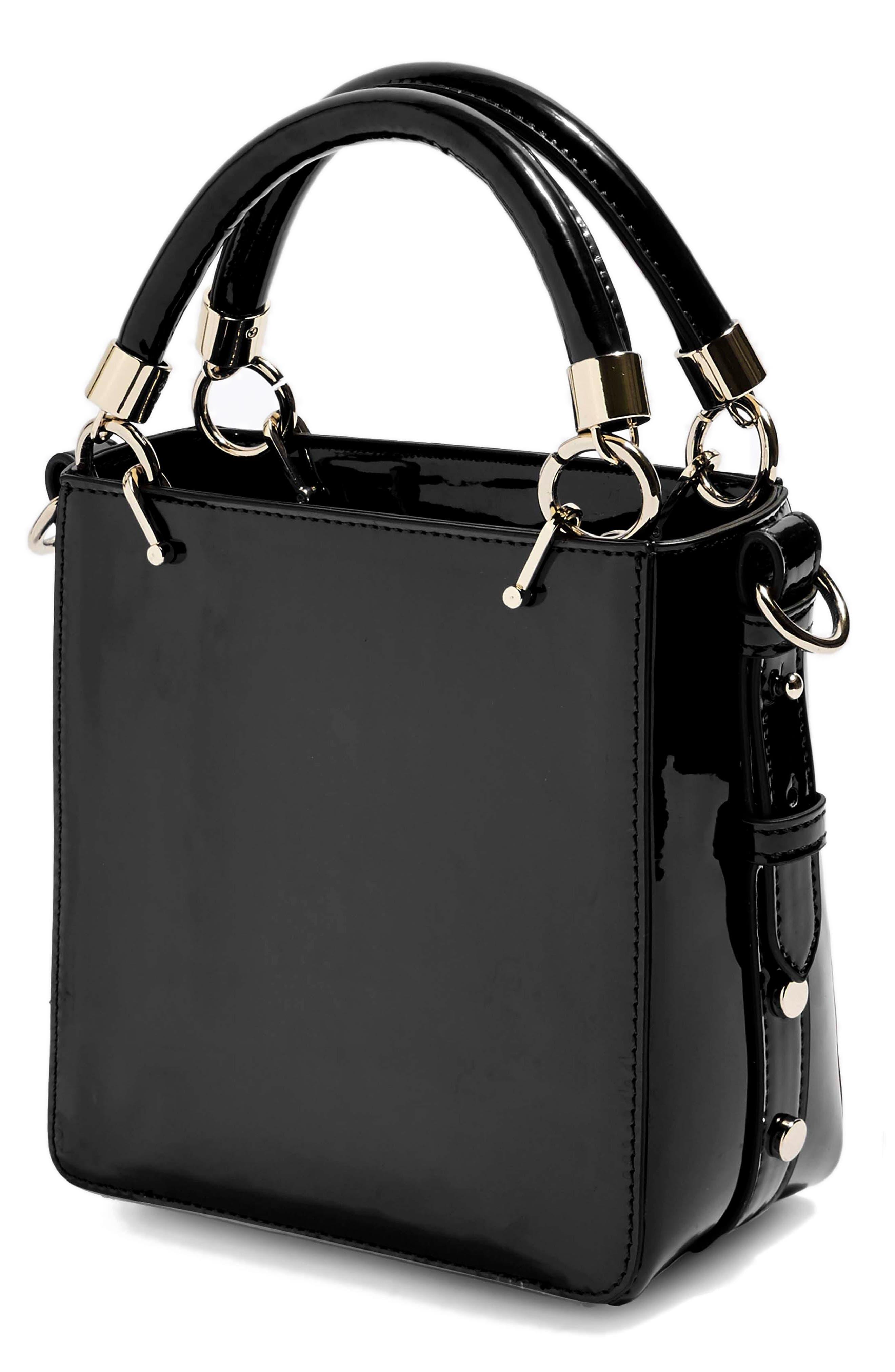 Courtney Studded Crossbody Bag,                             Alternate thumbnail 3, color,                             BLACK MULTI