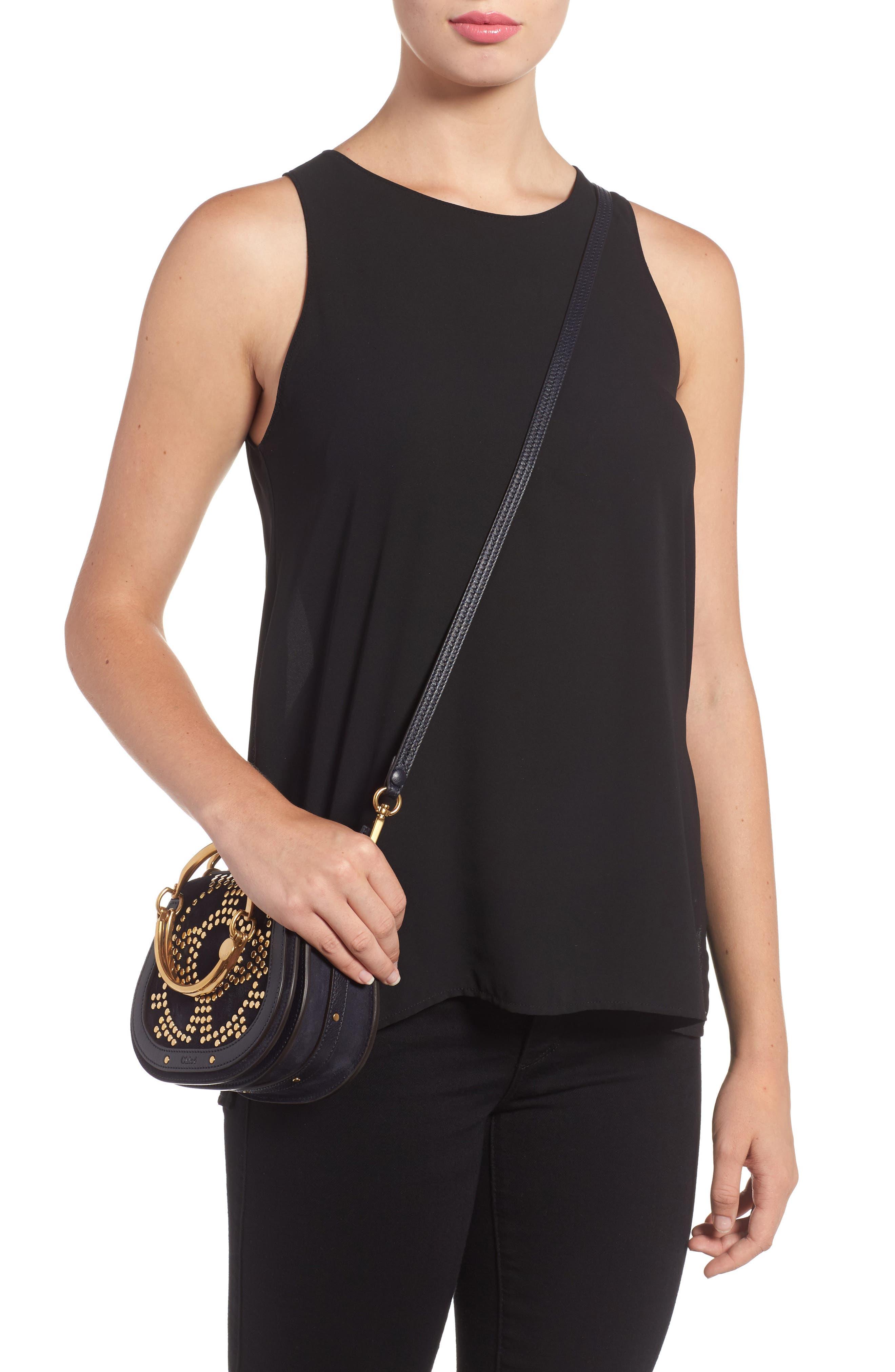 Small Nile Bracelet Studded Leather Crossbody Bag,                             Alternate thumbnail 2, color,
