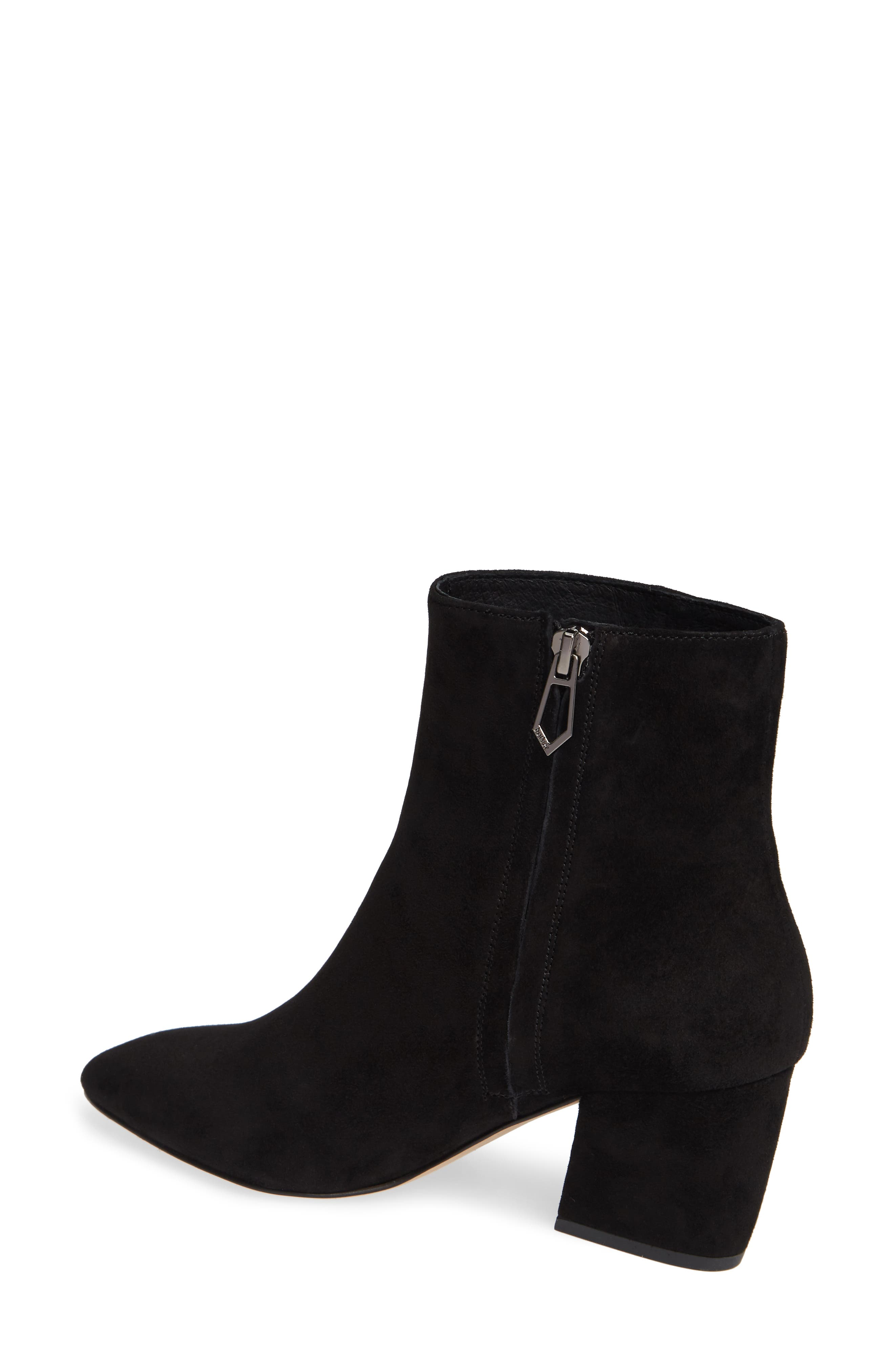 Sasha Bootie,                             Alternate thumbnail 2, color,                             BLACK SUEDE