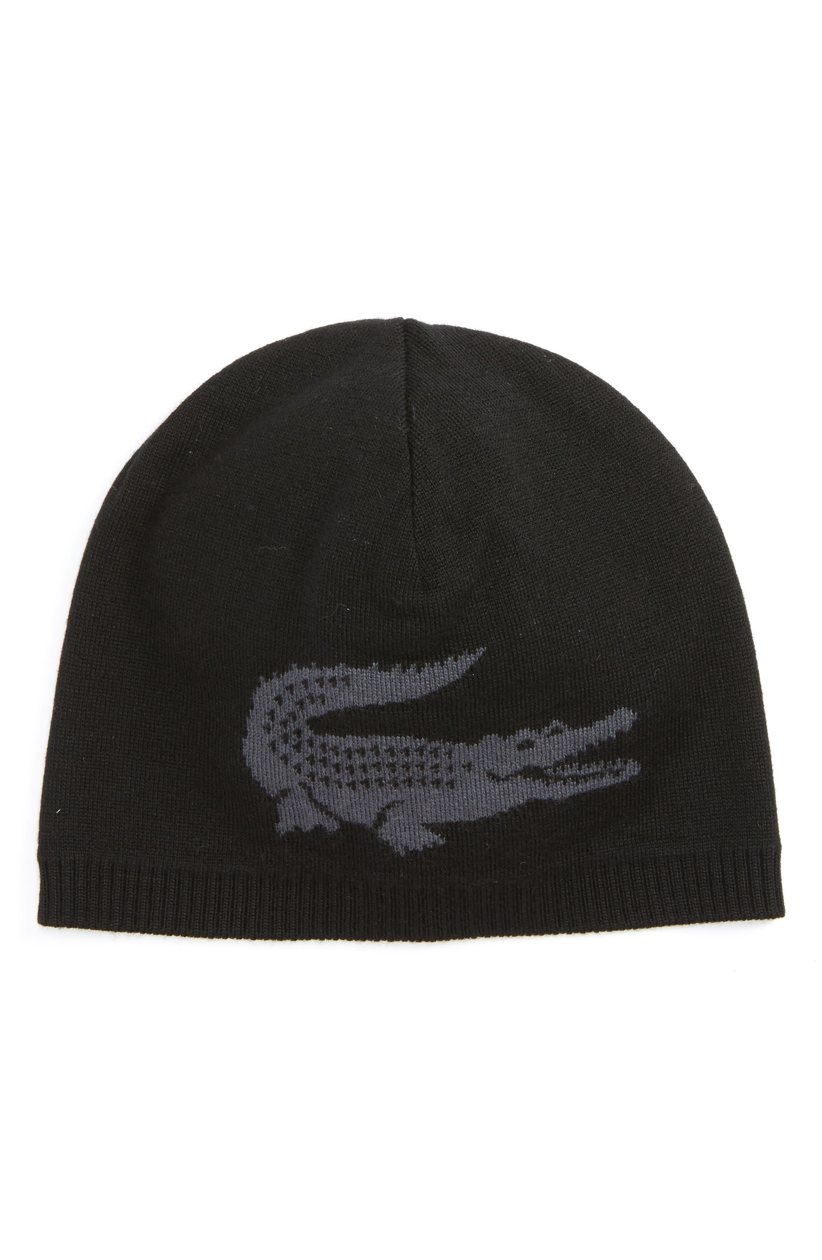Big Crocodile Reversible Wool Beanie,                             Main thumbnail 1, color,                             001