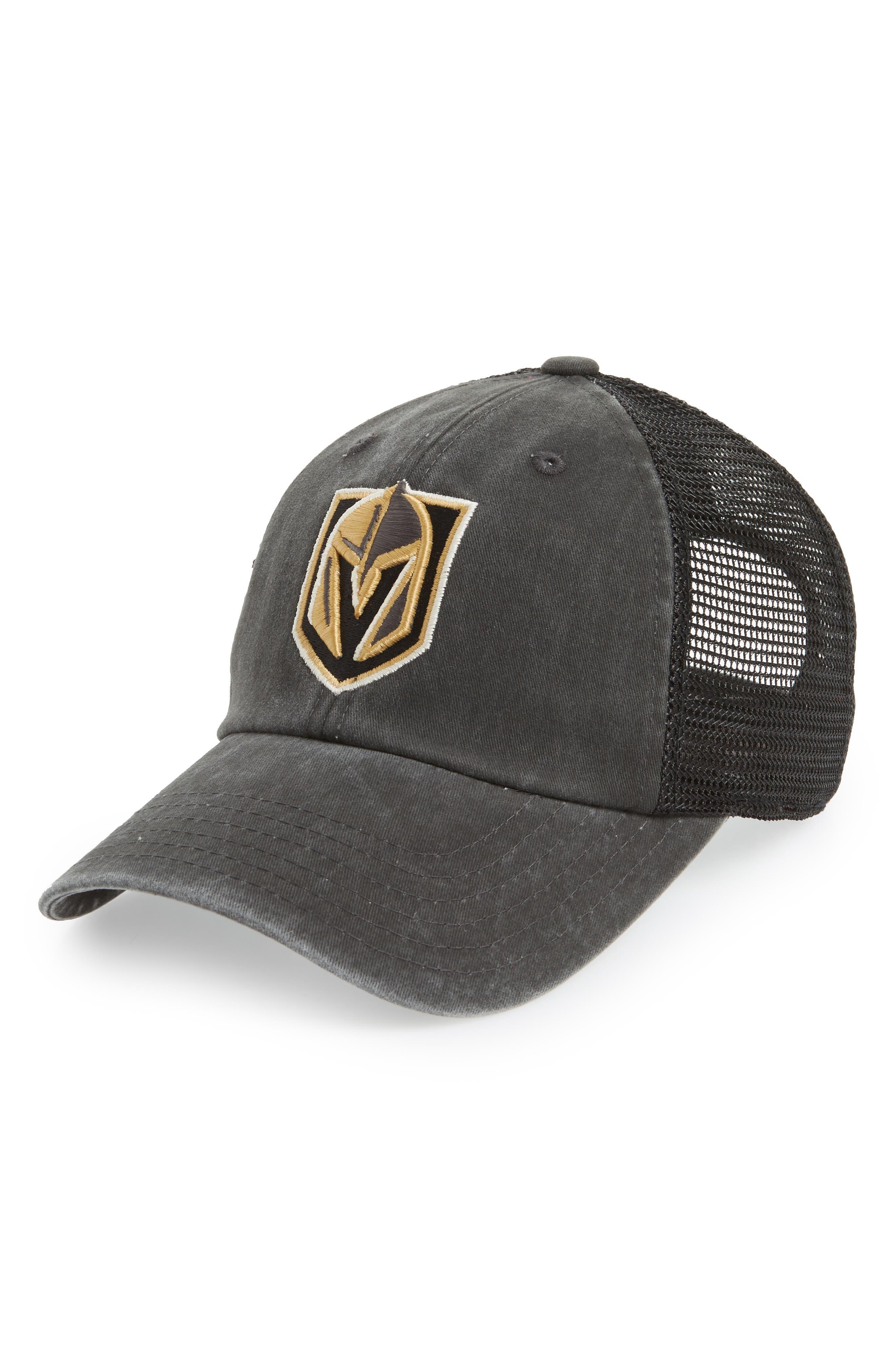 Raglan NHL Trucker Cap,                         Main,                         color, GOLDEN KNIGHTS