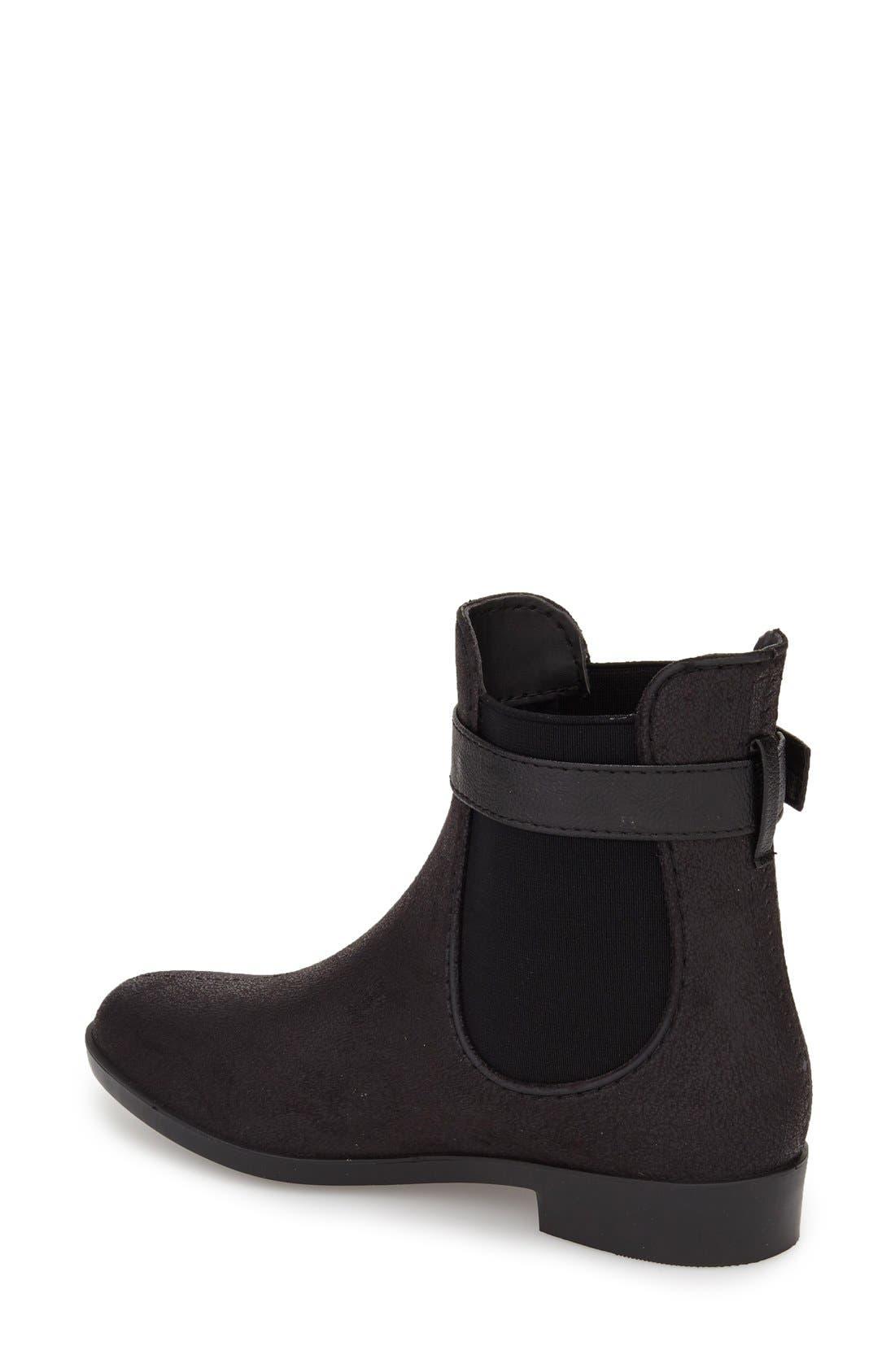 DÄV,                             'Glasgow' Water Resistant Chelsea Boot,                             Alternate thumbnail 2, color,                             BLACK