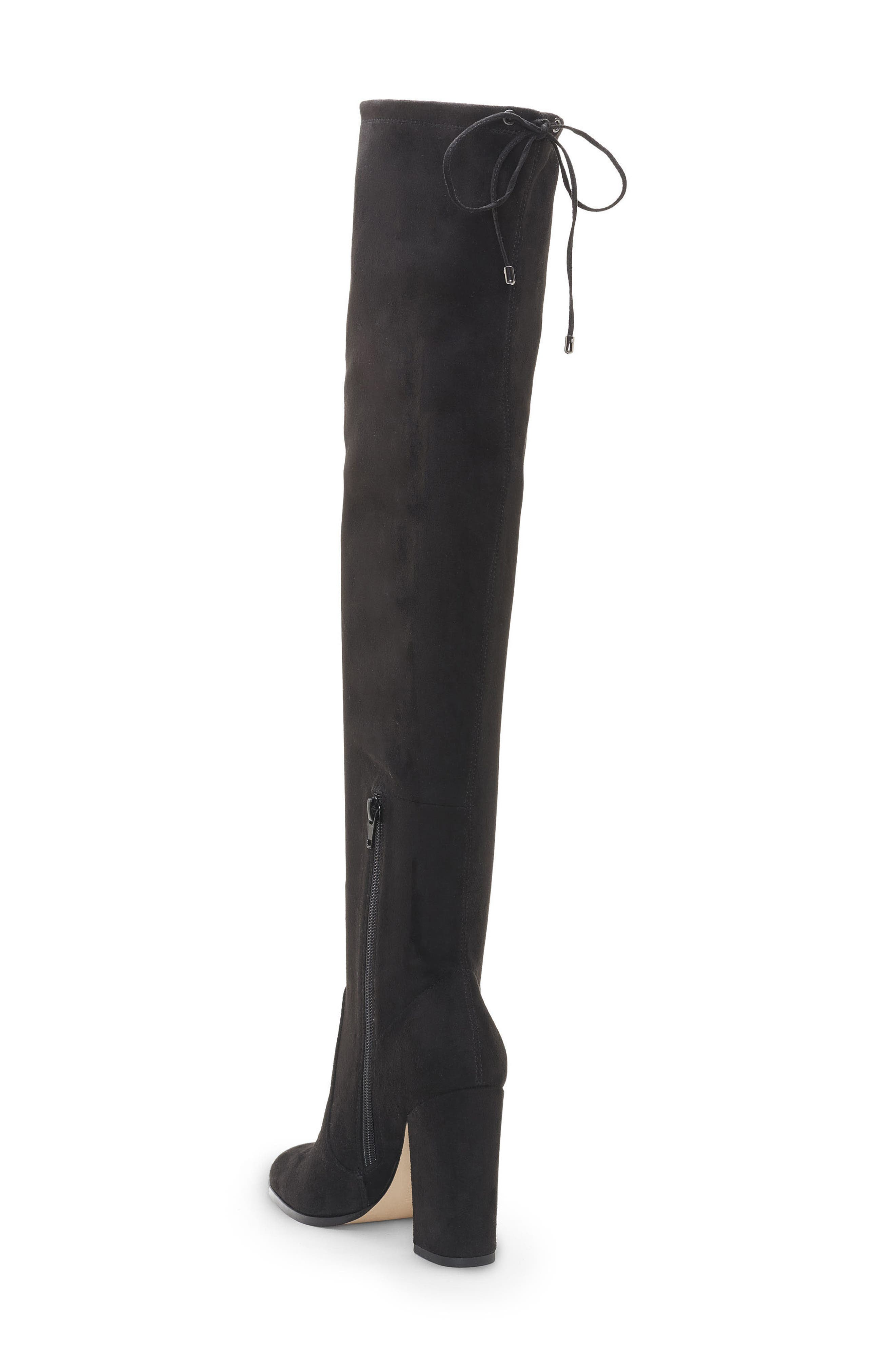 Marline Thigh High Boot,                             Alternate thumbnail 2, color,                             BLACK SUEDE