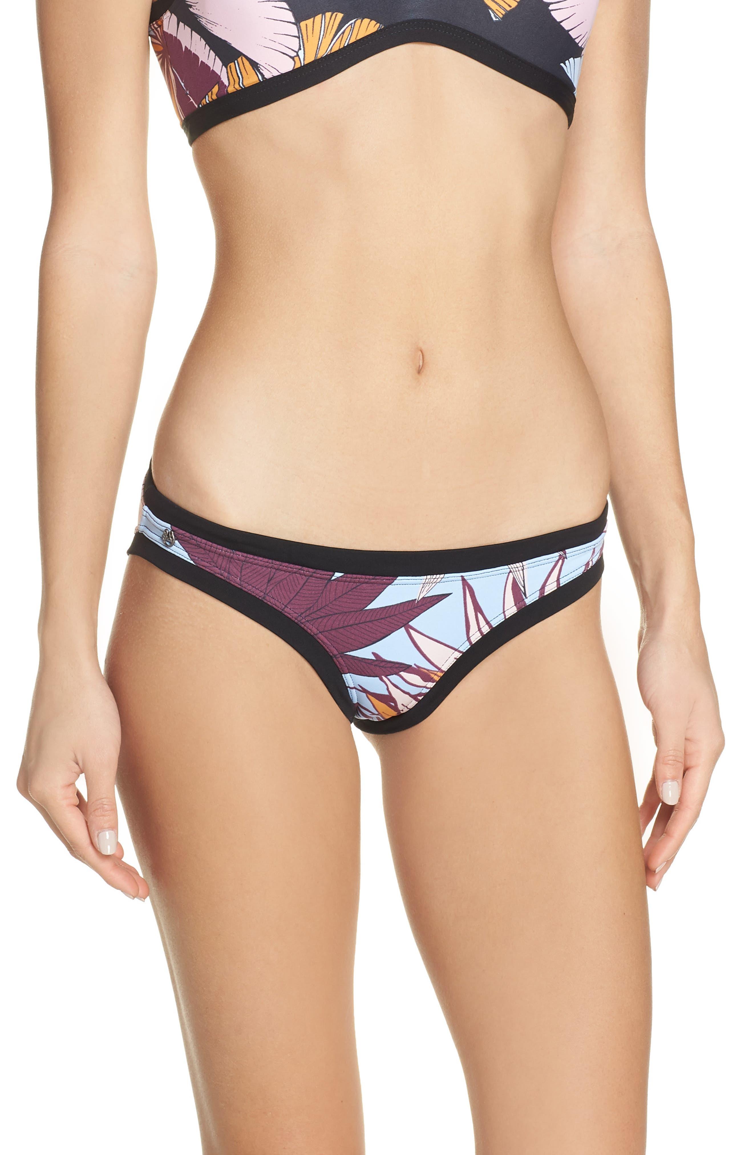 Maaji Midnight Carnival Reversible Bikini Bottoms, Black