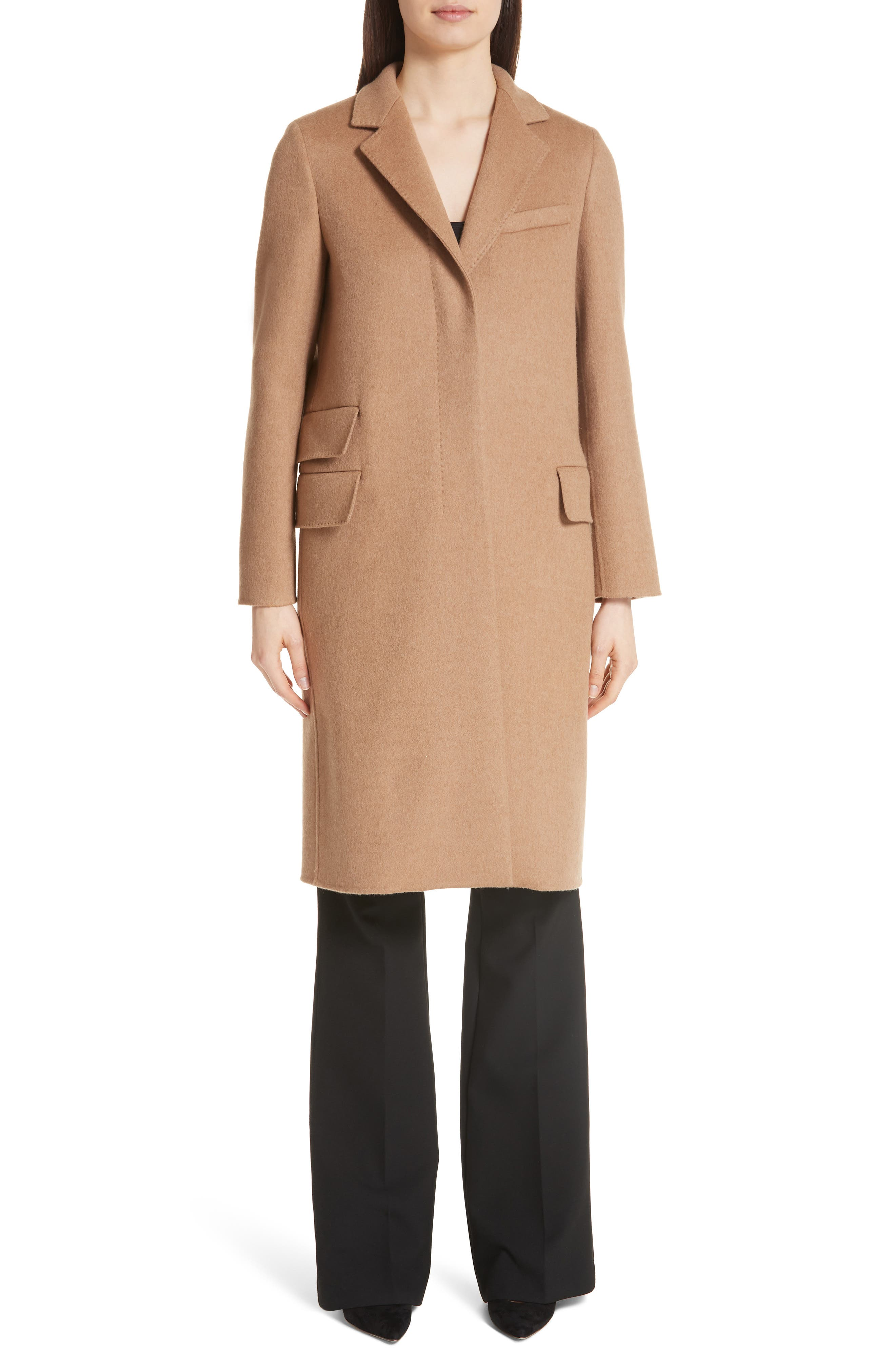 Aureo Camel Hair Coat,                             Main thumbnail 1, color,                             232
