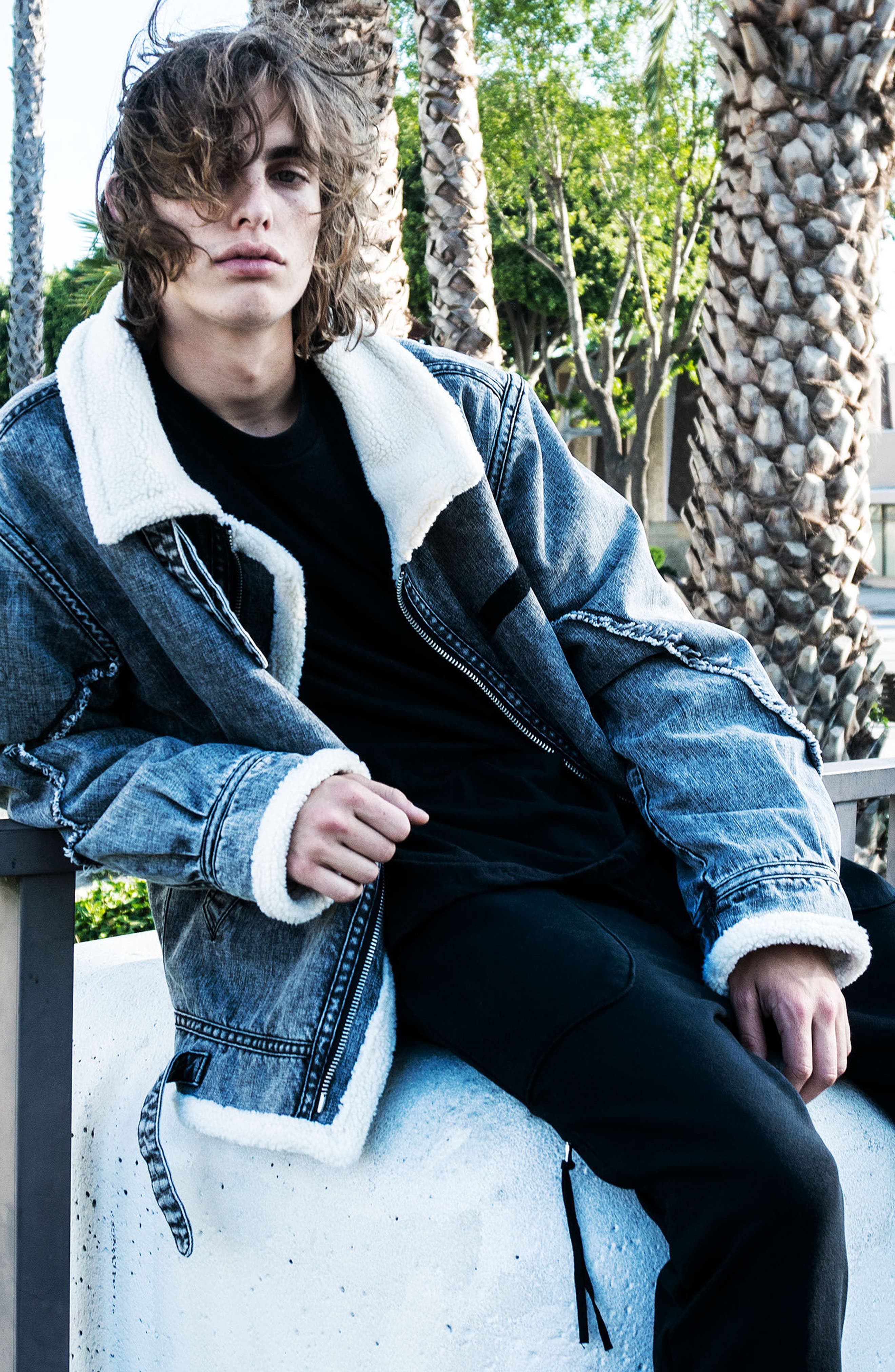 Denim Bomber Jacket,                             Alternate thumbnail 10, color,                             036