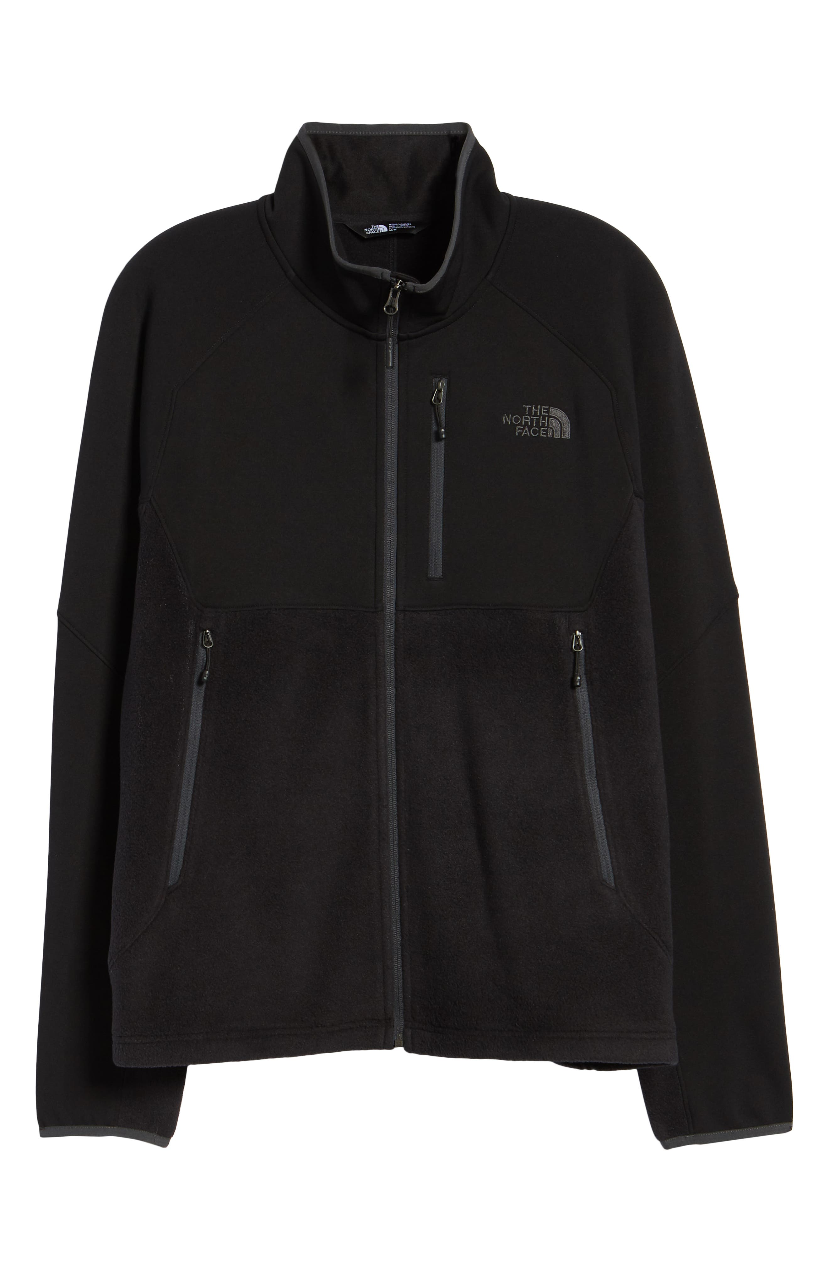Tolmie Peak Hybrid Water Repellent Zip Jacket,                             Alternate thumbnail 6, color,                             TNF BLACK/ TNF BLACK