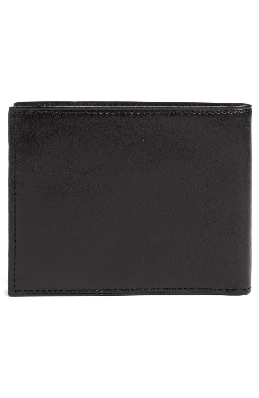 BOSCA,                             Leather Bifold Wallet,                             Alternate thumbnail 2, color,                             BLACK