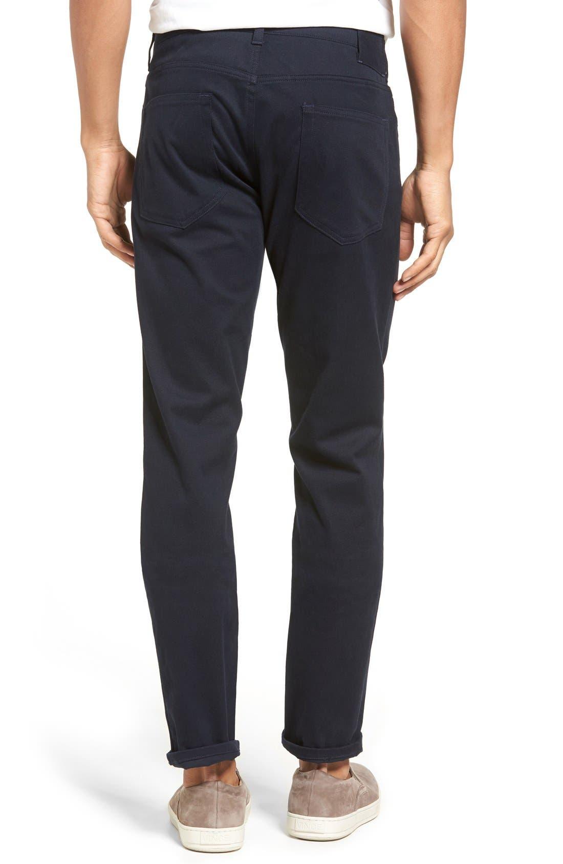 Soho Slim Fit Five-Pocket Pants,                             Alternate thumbnail 5, color,                             COASTAL