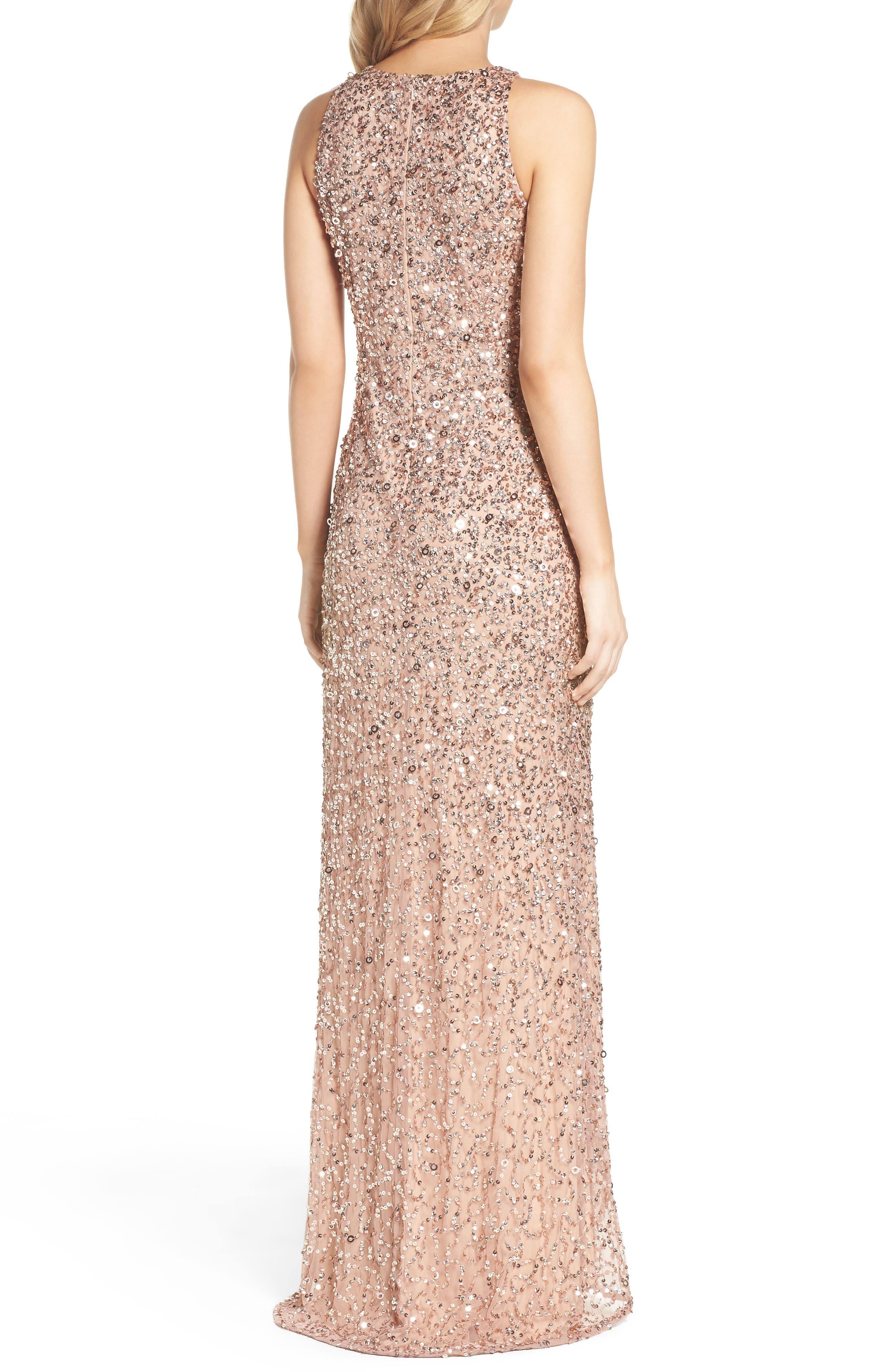 Sequin High/Low Gown,                             Alternate thumbnail 9, color,