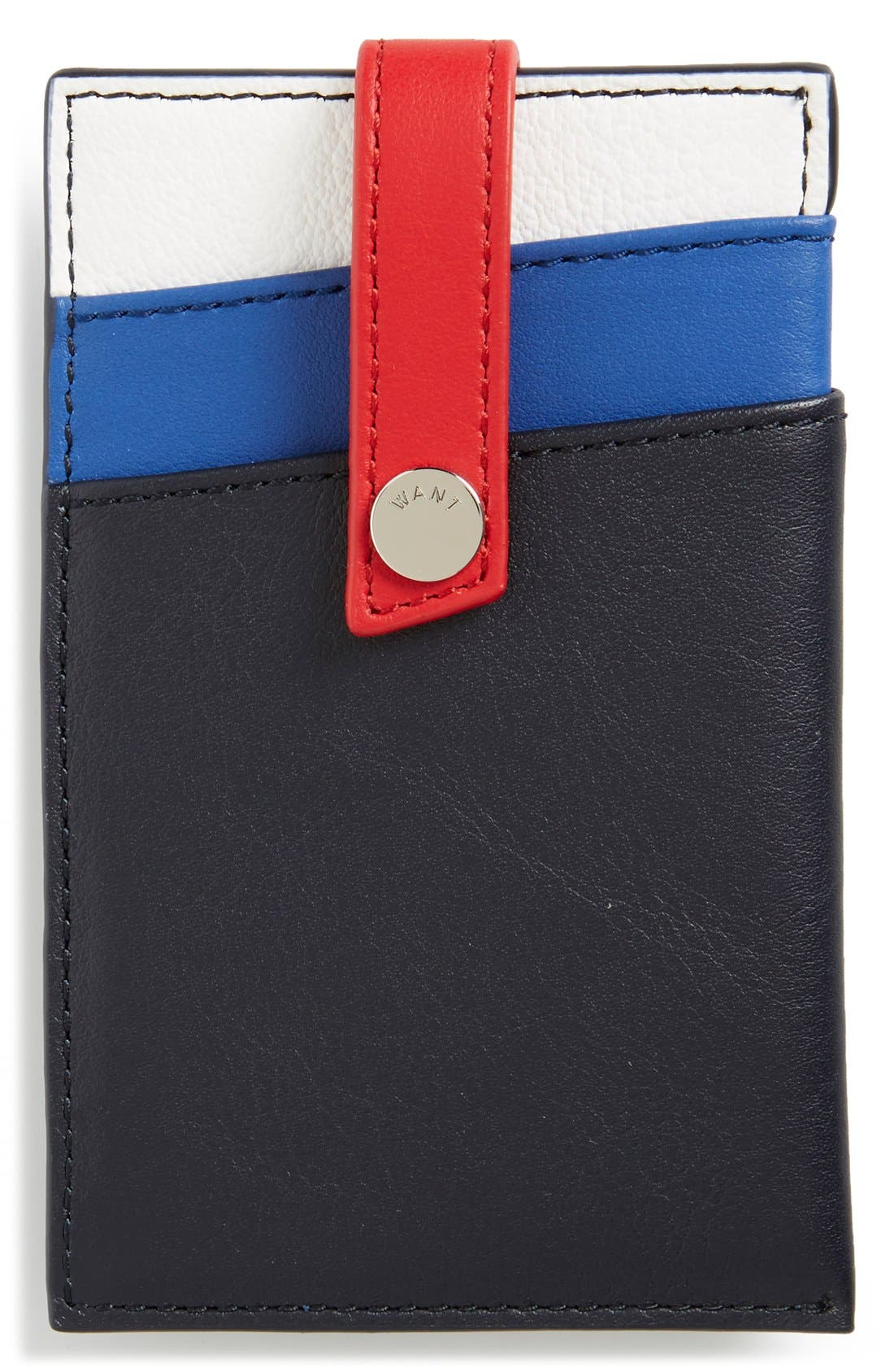 'Kennedy' Leather Money Clip Card Case,                             Main thumbnail 5, color,