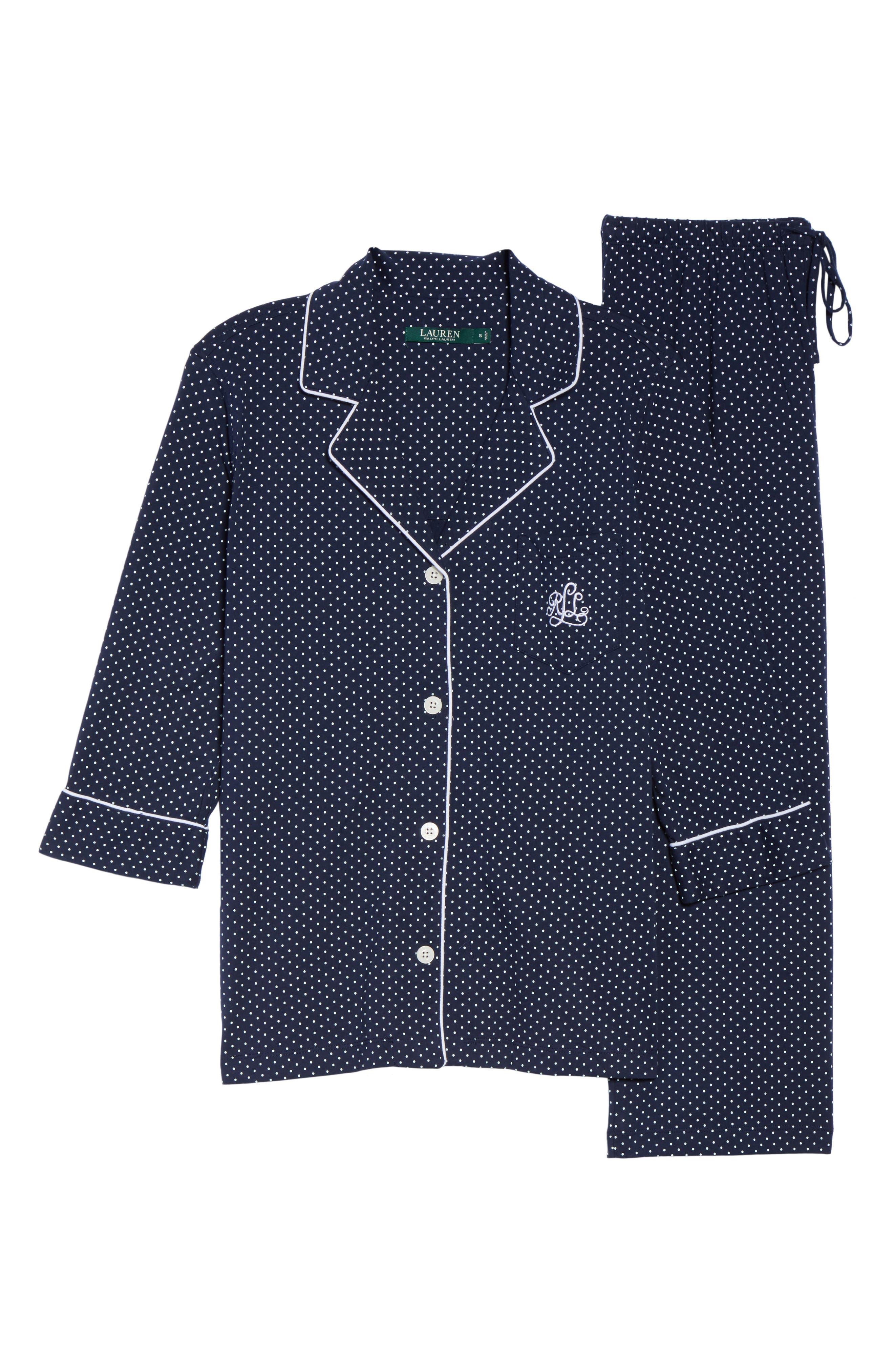 Knit Crop Pajamas,                             Alternate thumbnail 35, color,