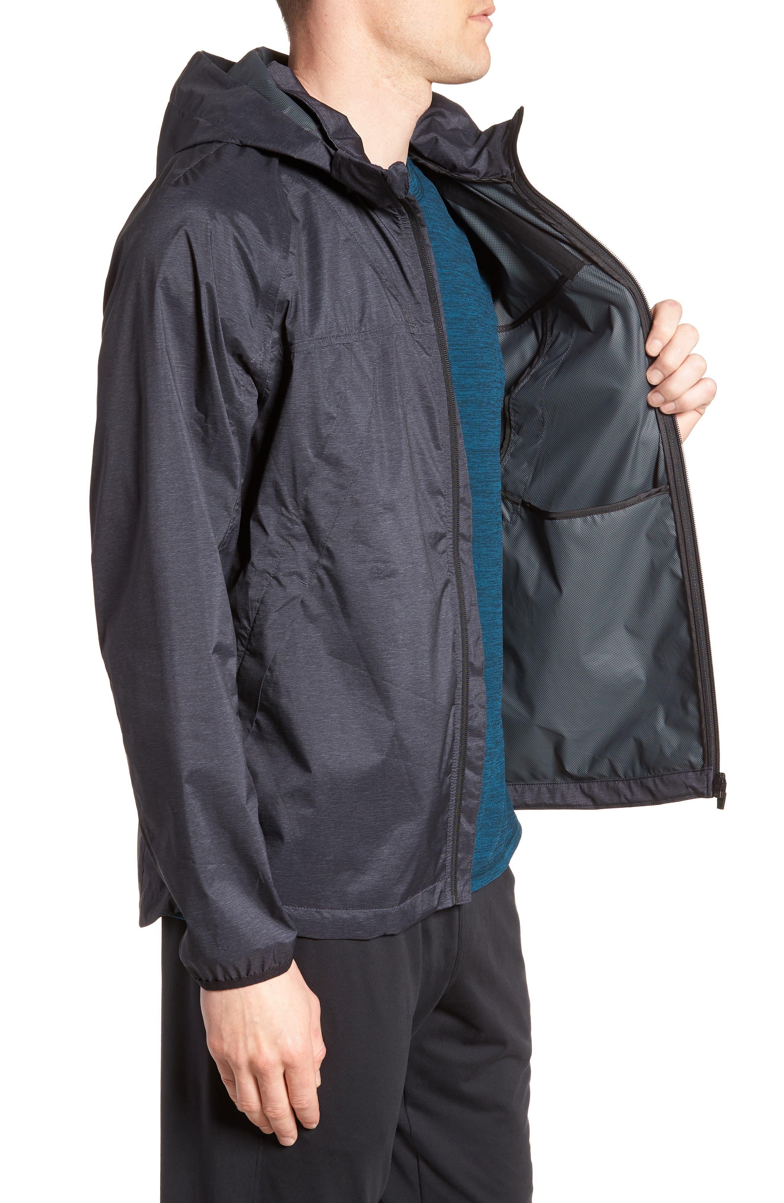 ZELLA,                             Xieite Hooded Jacket,                             Alternate thumbnail 3, color,                             001