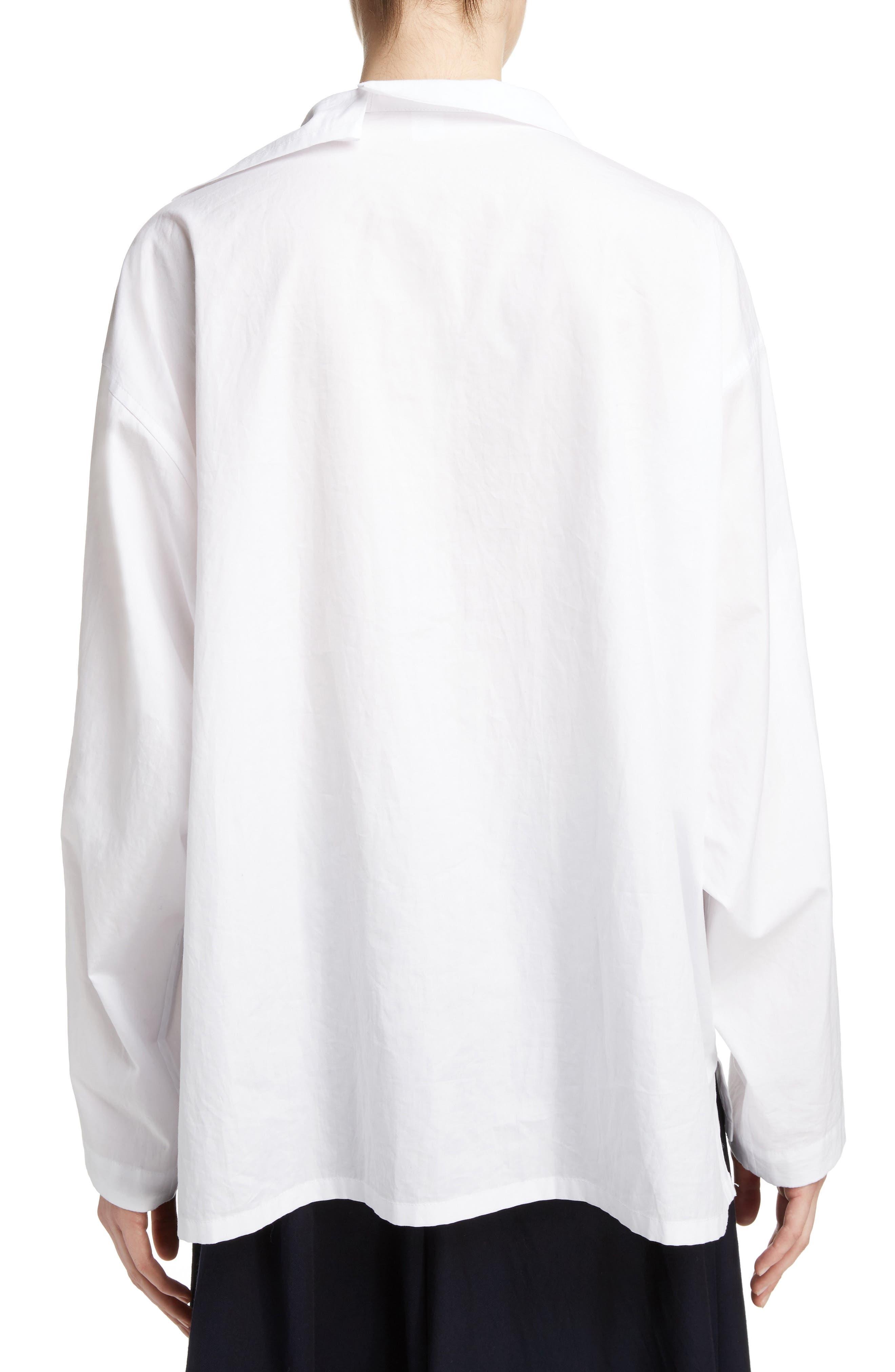 Asymmetrical Collar Blouse,                             Main thumbnail 1, color,                             100