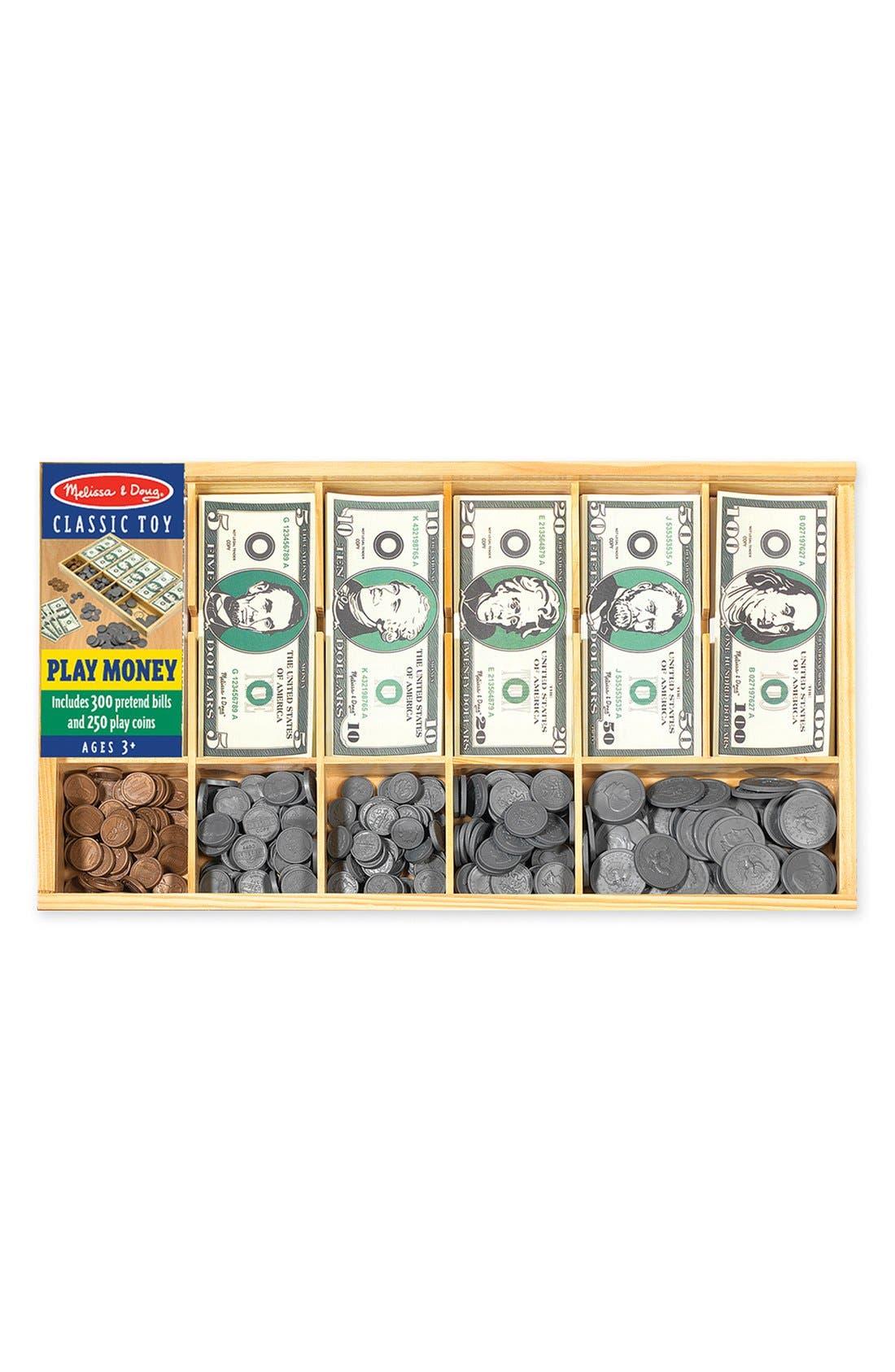 Play Money Set,                             Main thumbnail 1, color,                             GREEN MULTI