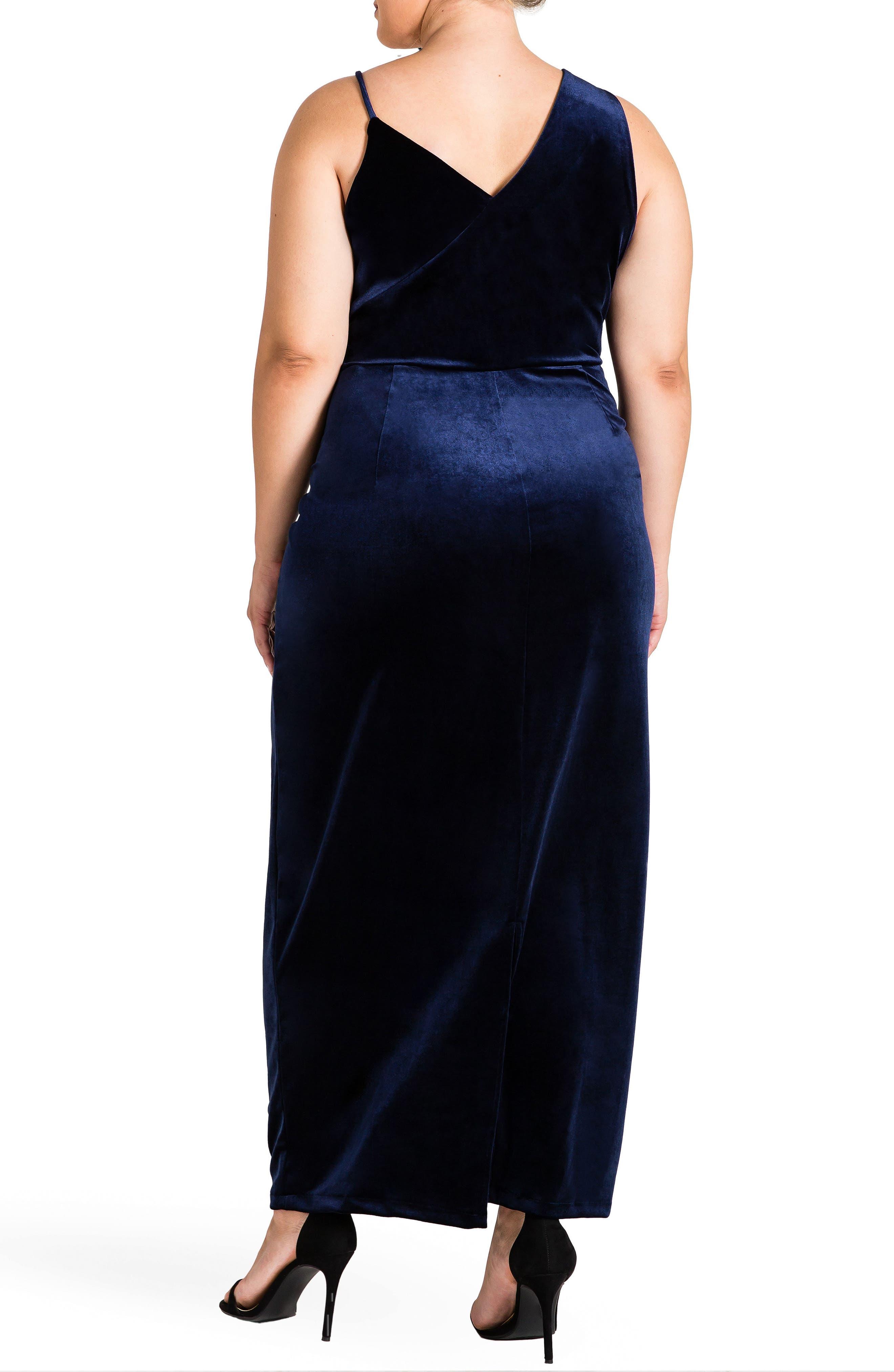 Regan Velvet Sheath Gown,                             Alternate thumbnail 2, color,                             410