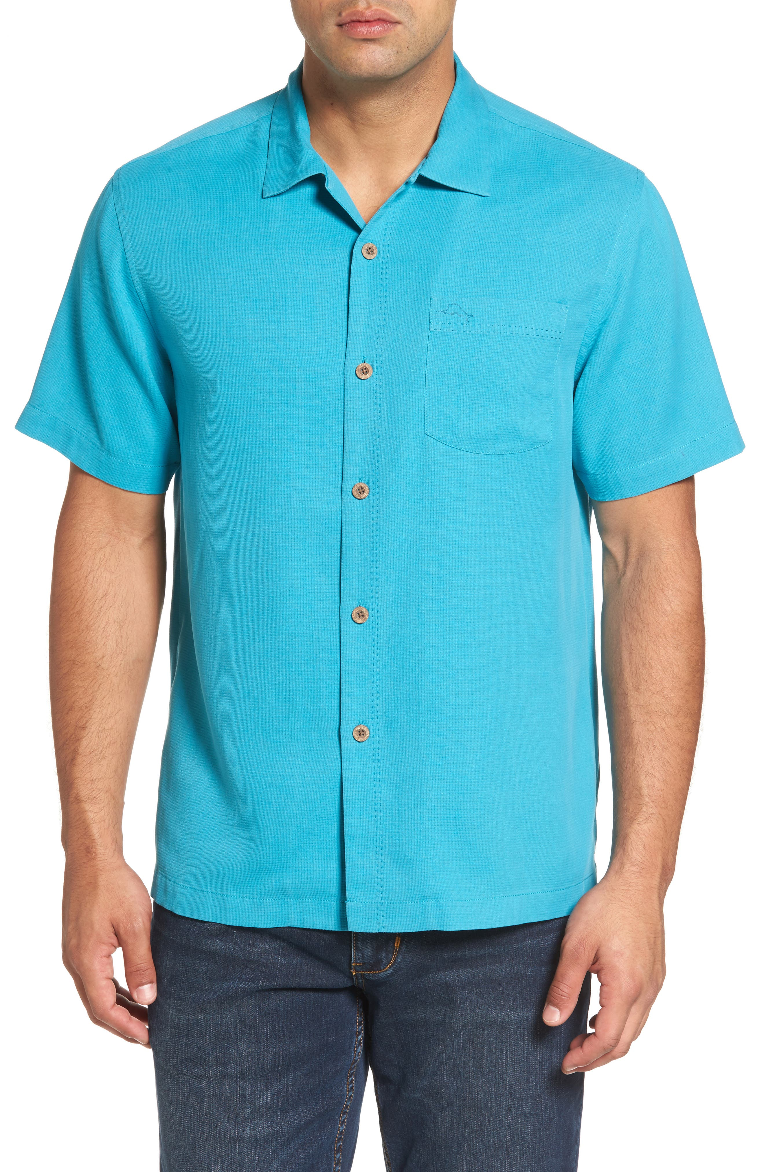 Royal Bermuda Silk Blend Camp Shirt,                             Main thumbnail 1, color,                             404