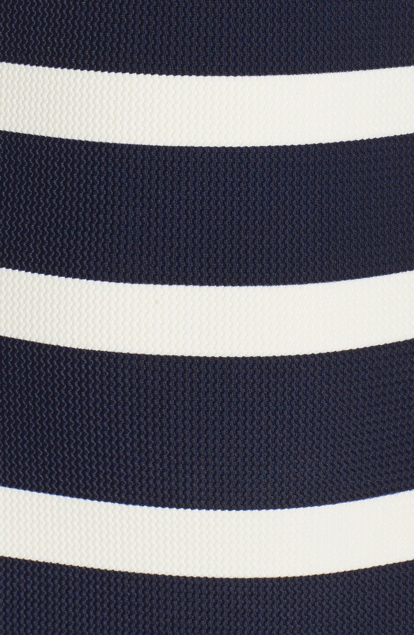 Texture Stripe One-Piece Bandeau Swimsuit,                             Alternate thumbnail 5, color,                             410