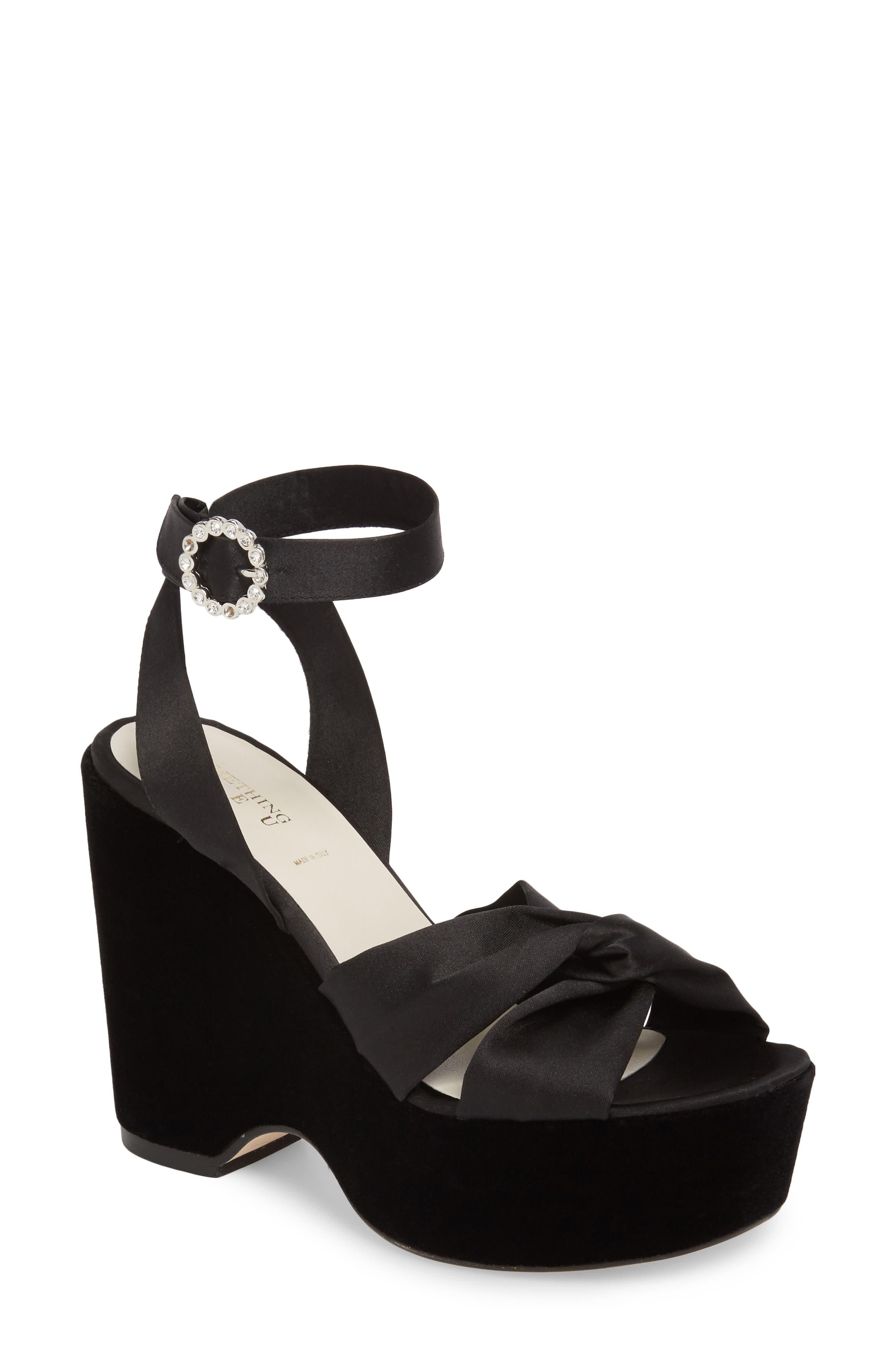 Serena Brocade Platform Sandal,                         Main,                         color,