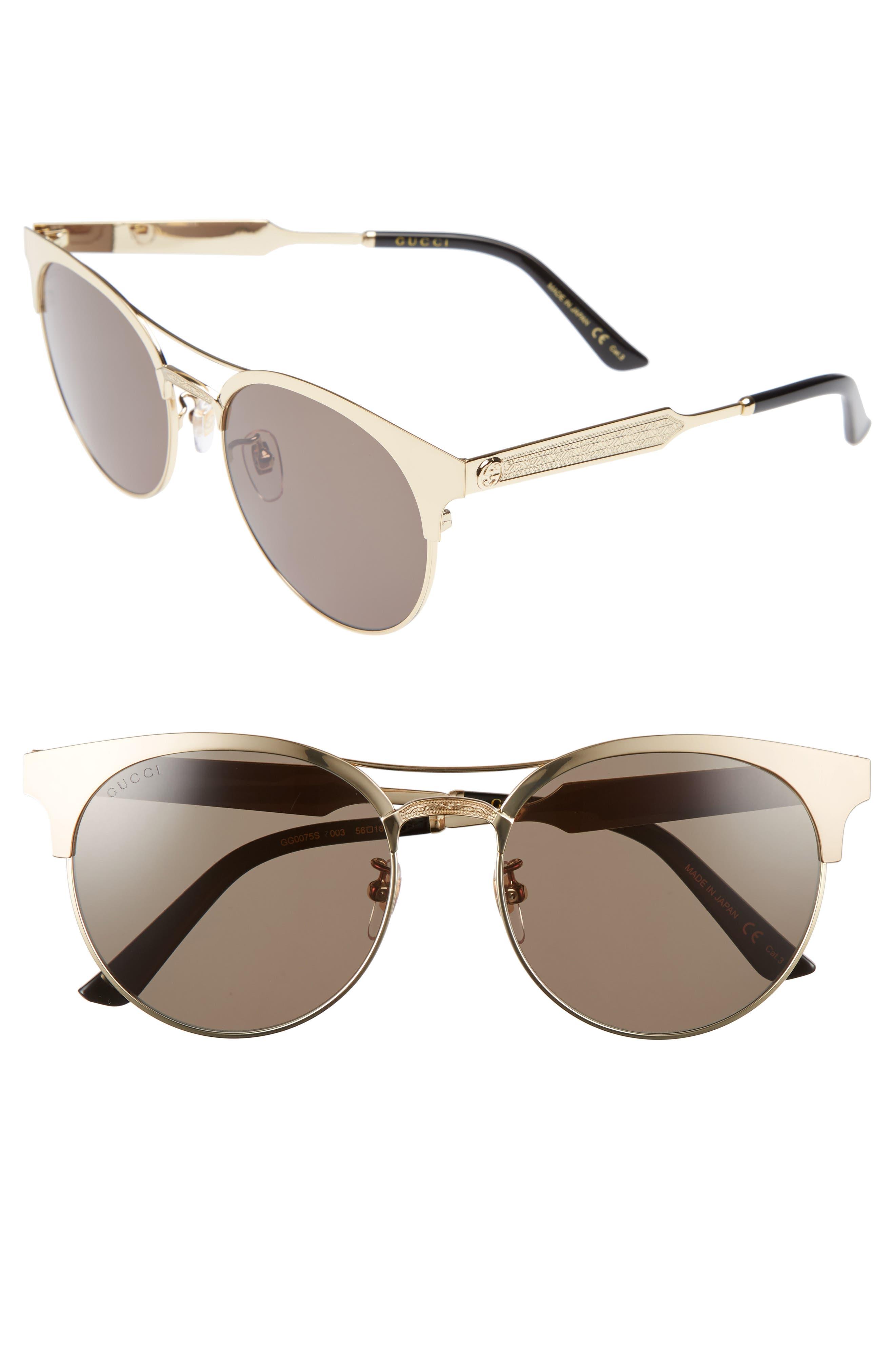 56mm Retro Sunglasses,                             Main thumbnail 2, color,