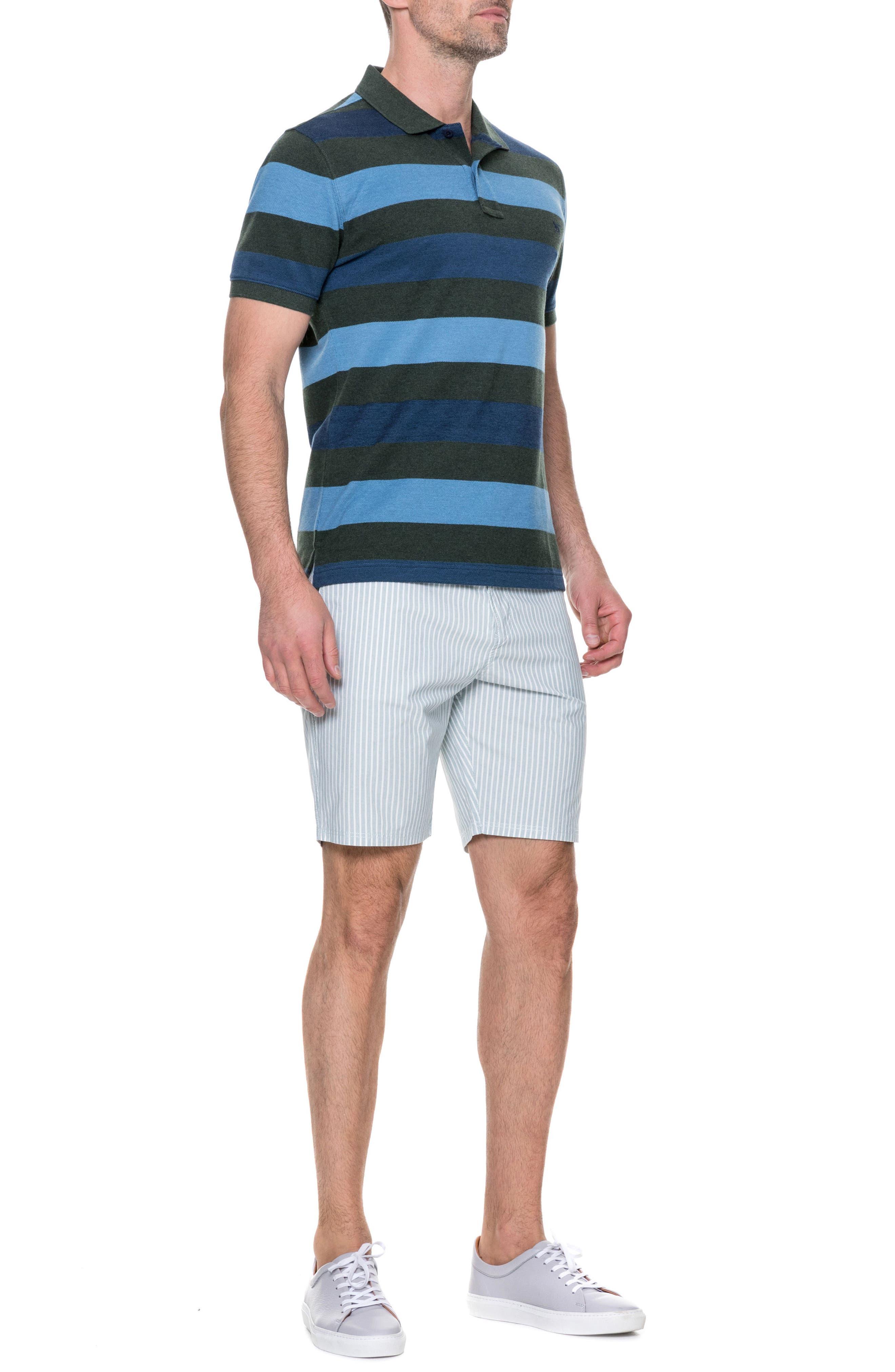 Preston Regular Fit Flat Front Shorts,                             Alternate thumbnail 7, color,                             PINE