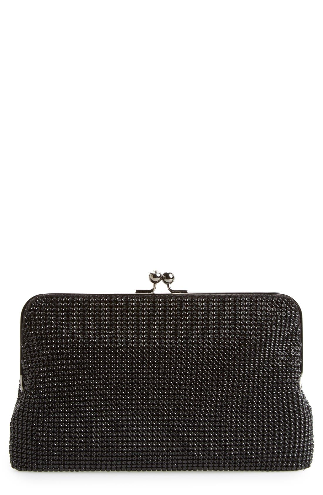 Vintage & Retro Handbags, Purses, Wallets, Bags Whiting  Davis Mesh Clutch - Black $155.00 AT vintagedancer.com