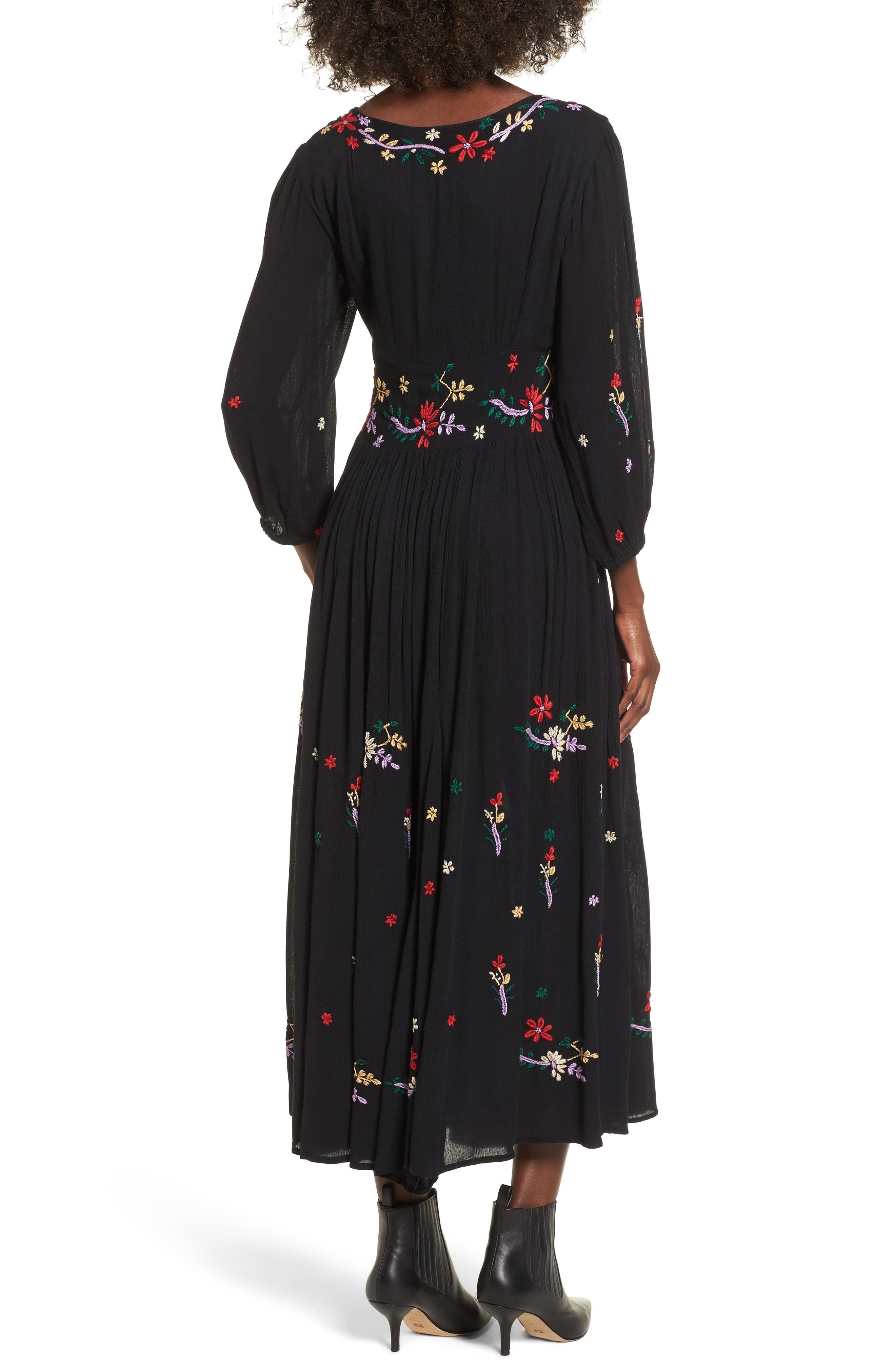 Sammy Embroidered Dress,                             Alternate thumbnail 2, color,                             001