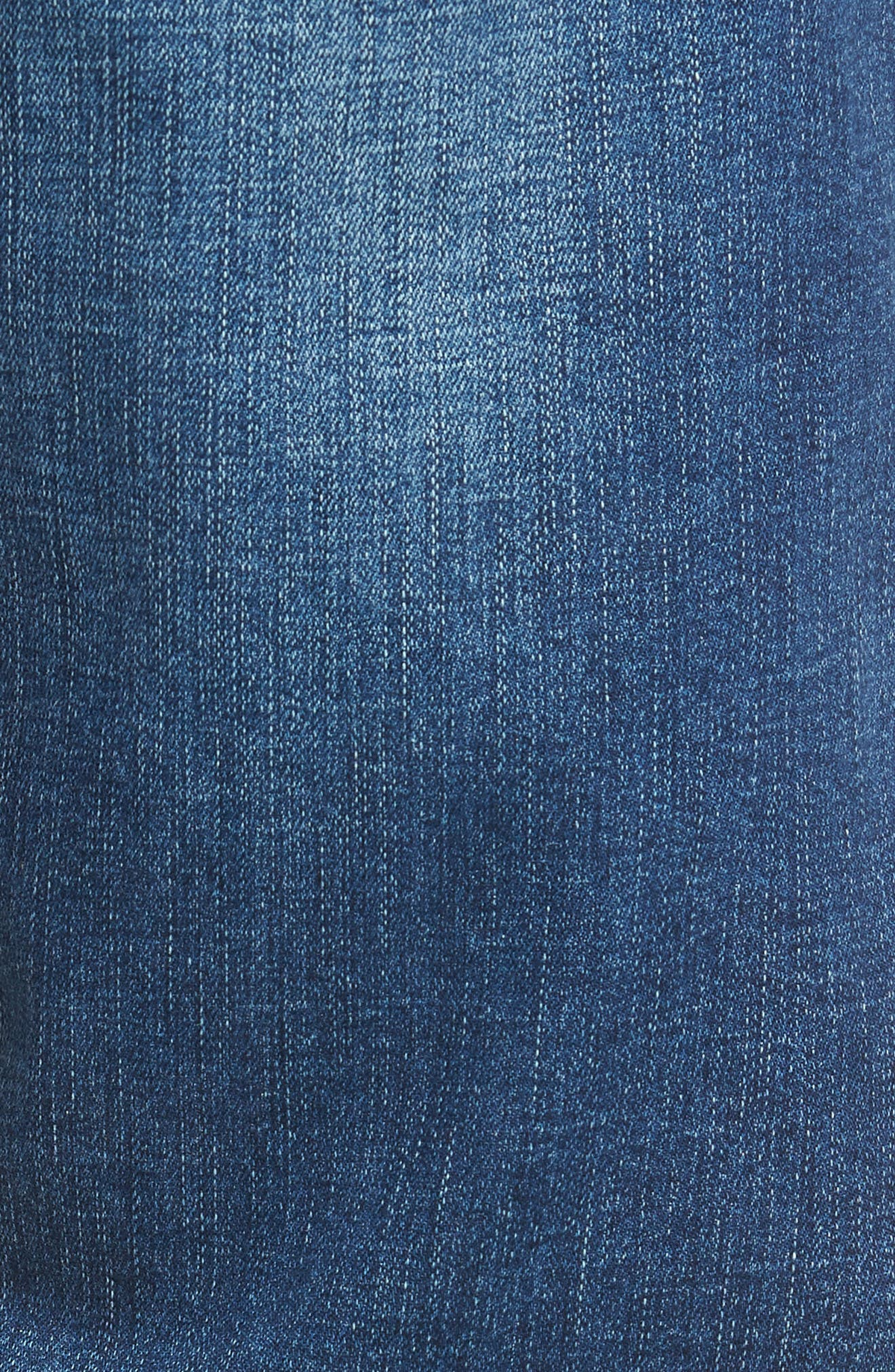 Matt Relaxed Straight Leg Jeans,                             Alternate thumbnail 5, color,                             MID BRUSHED CASHMERE