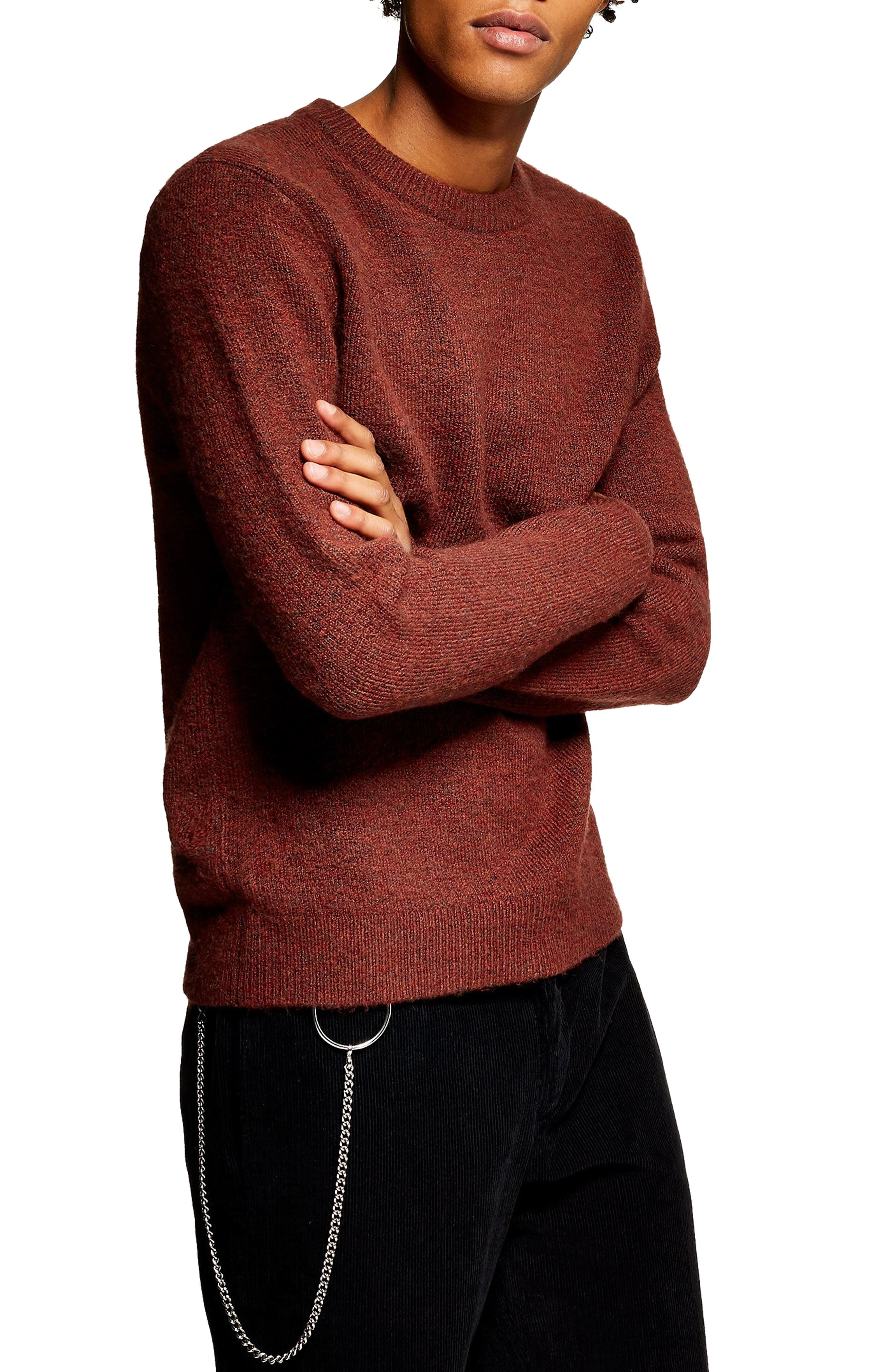 Harlow Classic Fit Sweater,                             Main thumbnail 1, color,                             BROWN