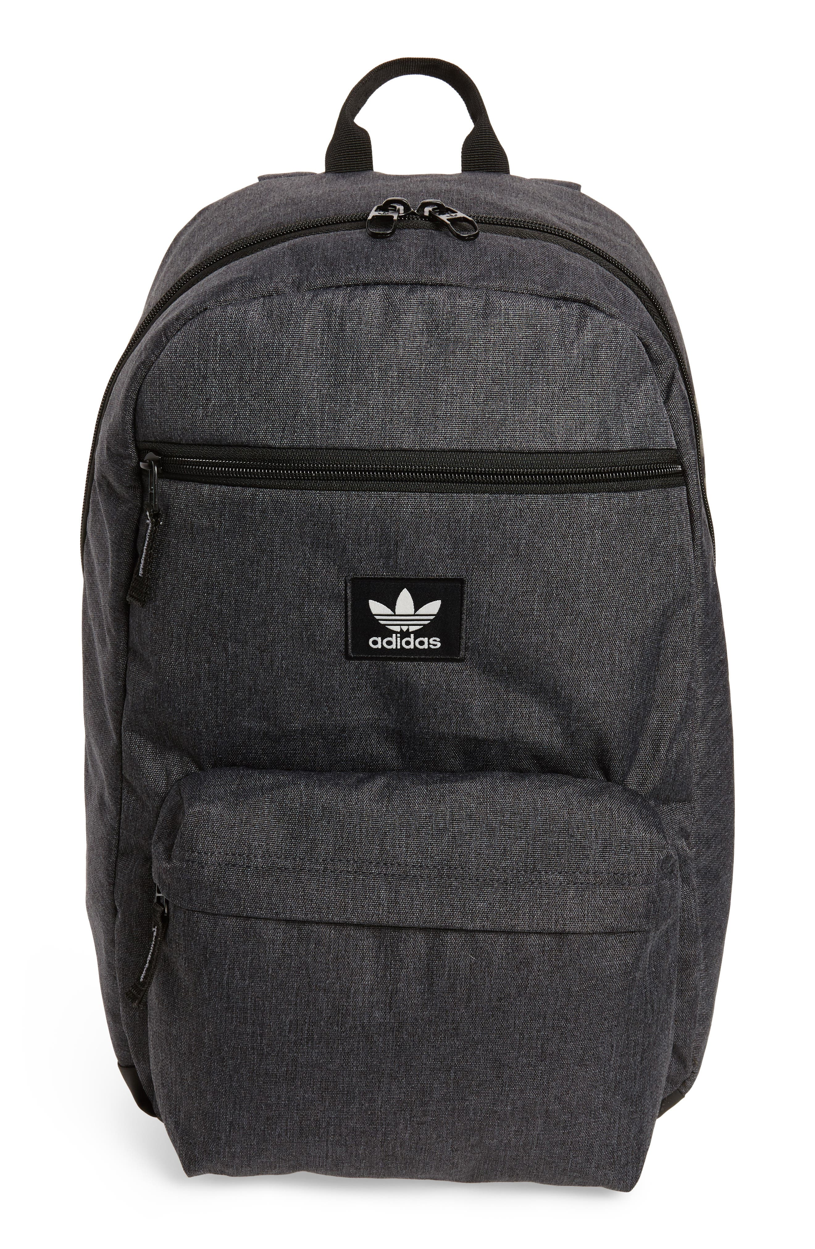 National Plus Backpack,                         Main,                         color, BLACK/ GREY HEATHER/ WHITE