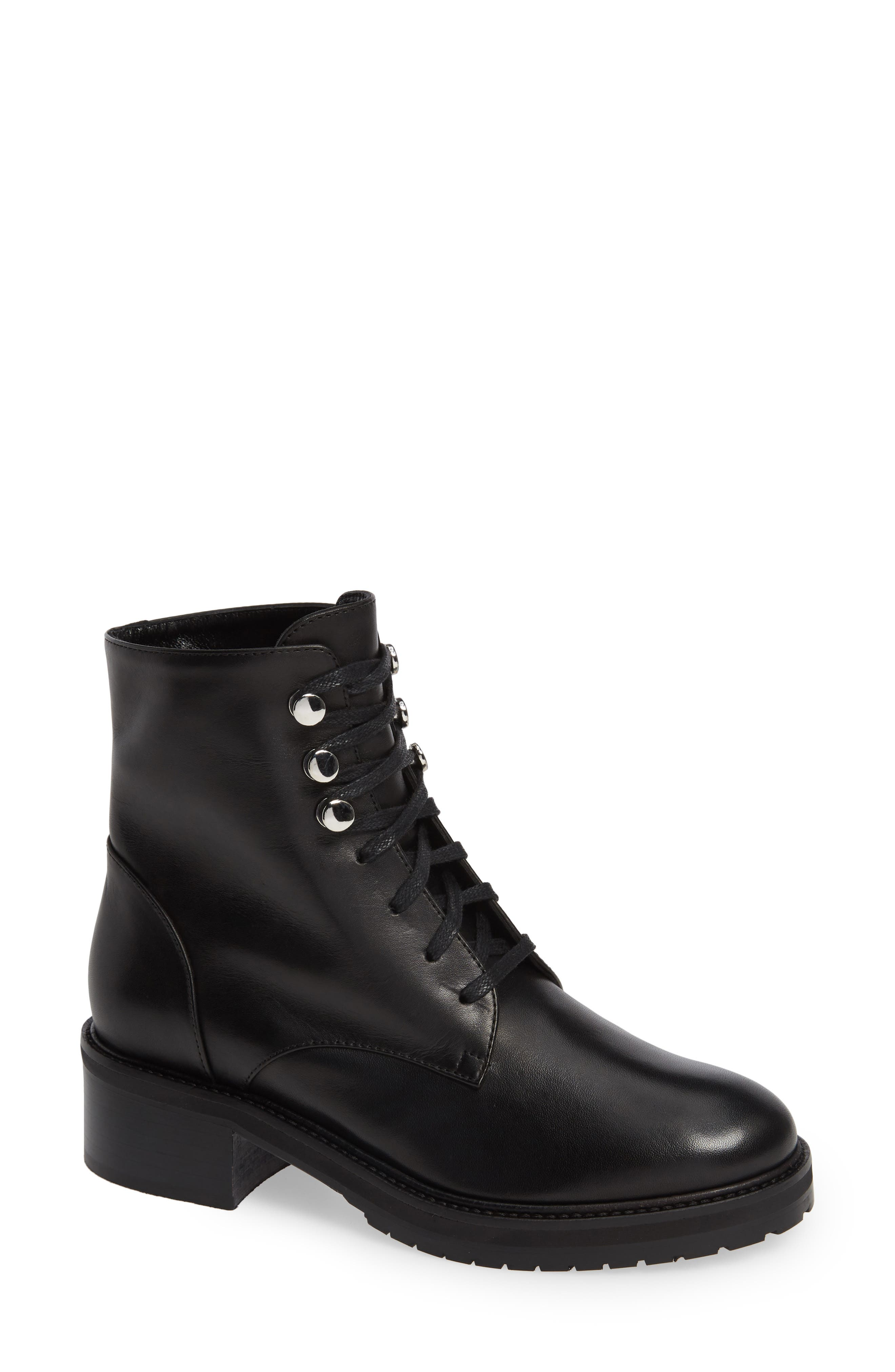 Leora Boot,                         Main,                         color, BLACK LEATHER