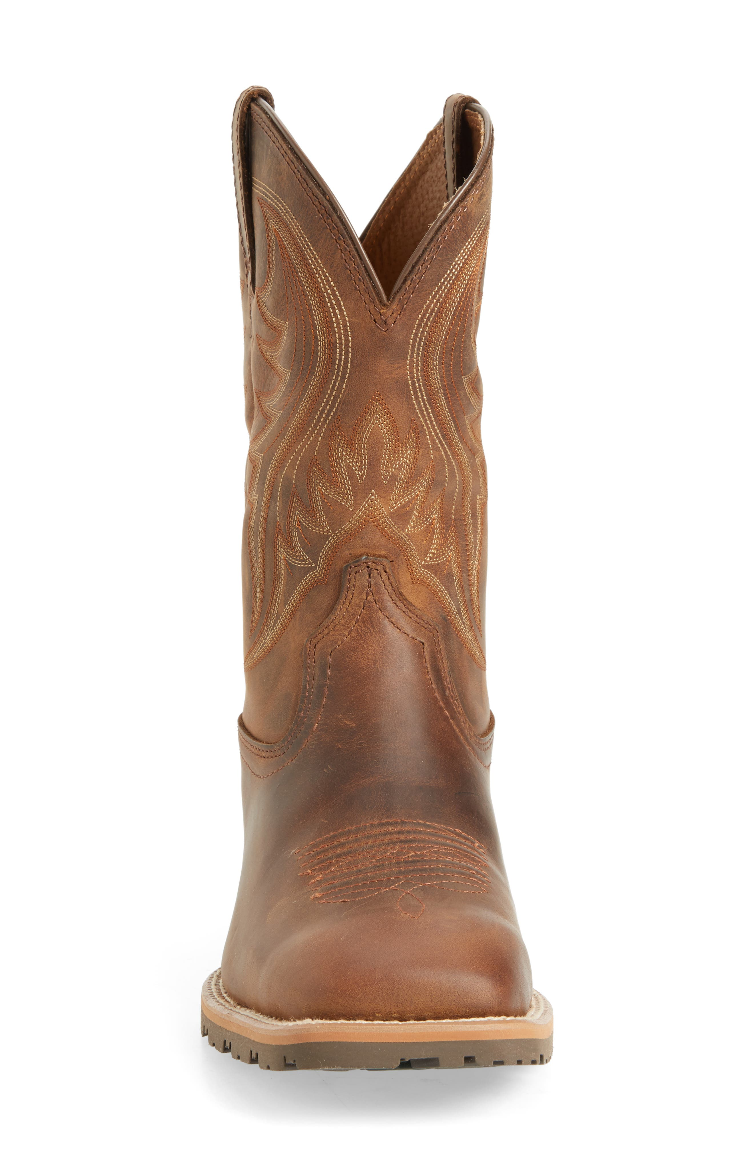 Hybrid Rancher Cowboy Boot,                             Alternate thumbnail 4, color,                             DISTRESSED BROWN LEATHER