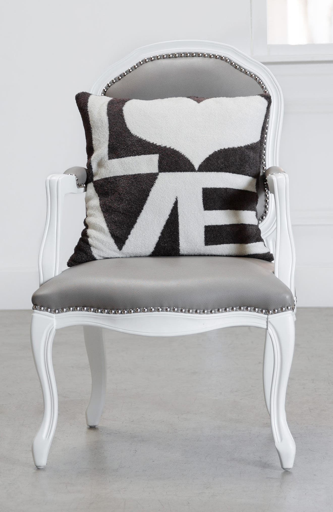 Dolce Love Throw Pillow,                             Alternate thumbnail 4, color,                             CHOCOLATE