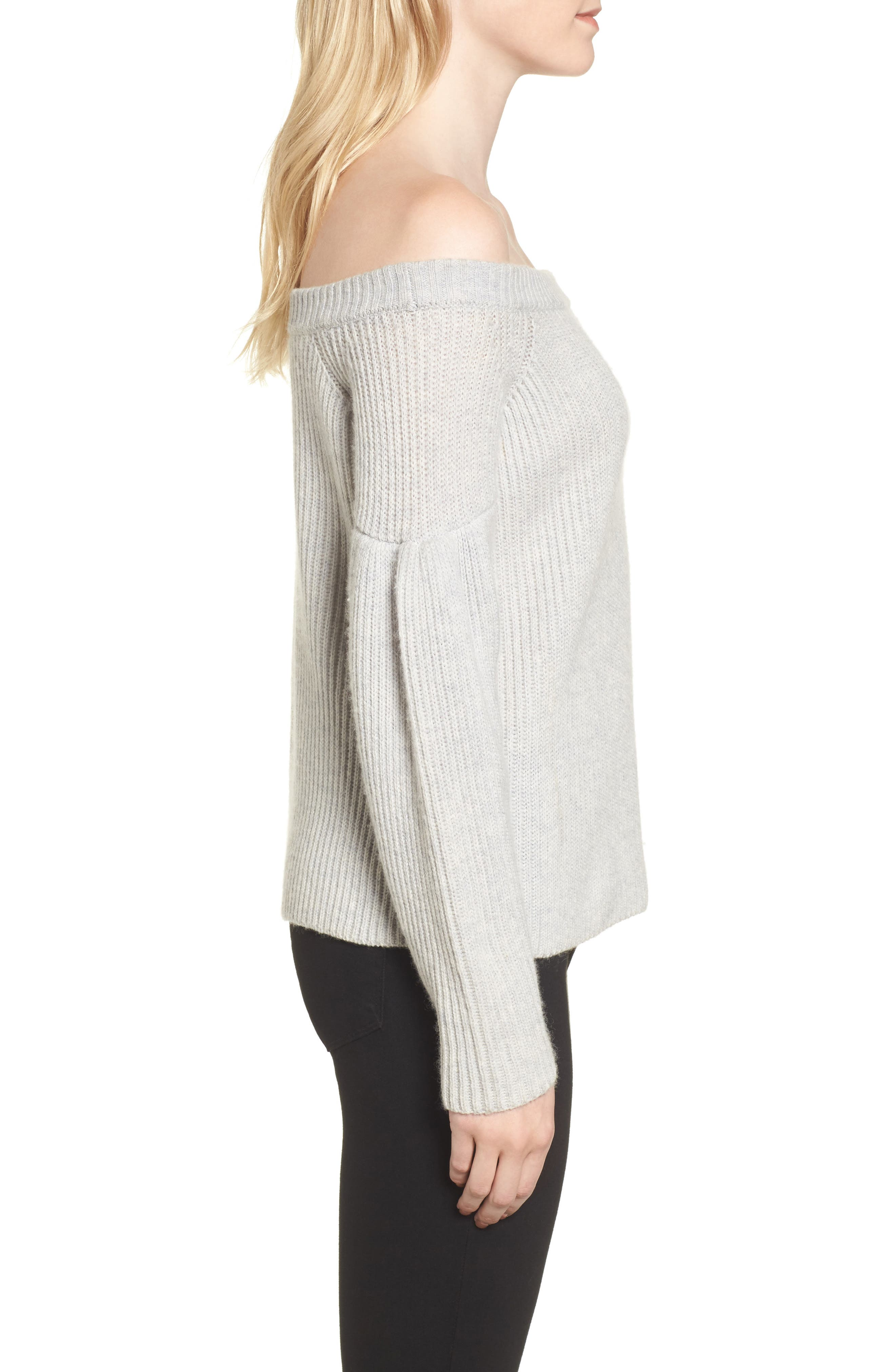 Lottie Off the Shoulder Sweater,                             Alternate thumbnail 5, color,