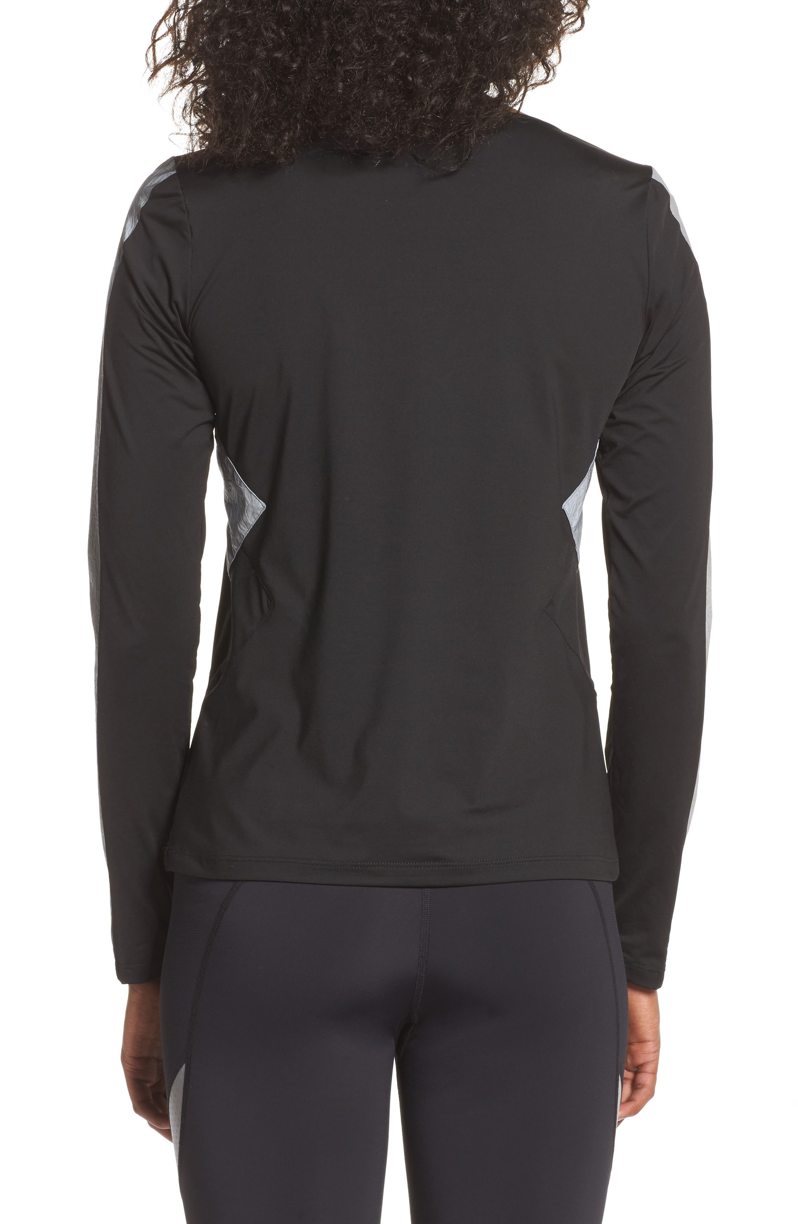 BoomBoom Athletica Reflective Body-Con Long Sleeve Tee,                             Alternate thumbnail 2, color,                             005